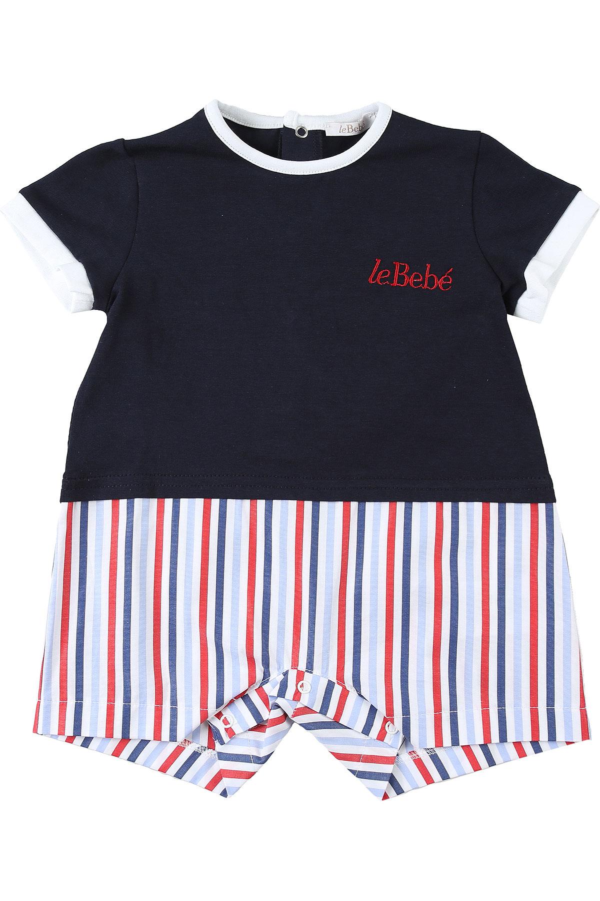 Le Bebe Tenues et Bodys pour Bébé Garçon, Bleu, Coton, 2017, 1M 3M