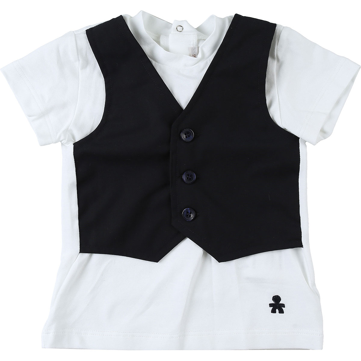 Le Bebe T-Shirt Bébé pour Garçon, Blanc, Coton, 2017, 12M 18M 6M