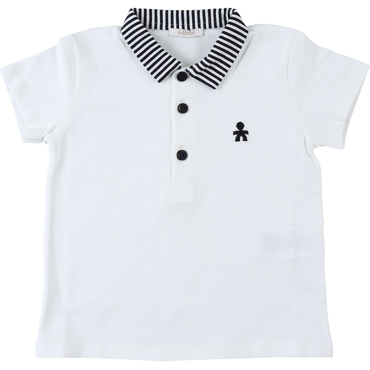 Le Bebe Baby Polo Shirt for Boys, White, Cotton, 2019, 12M 18M 3M 6M 9M