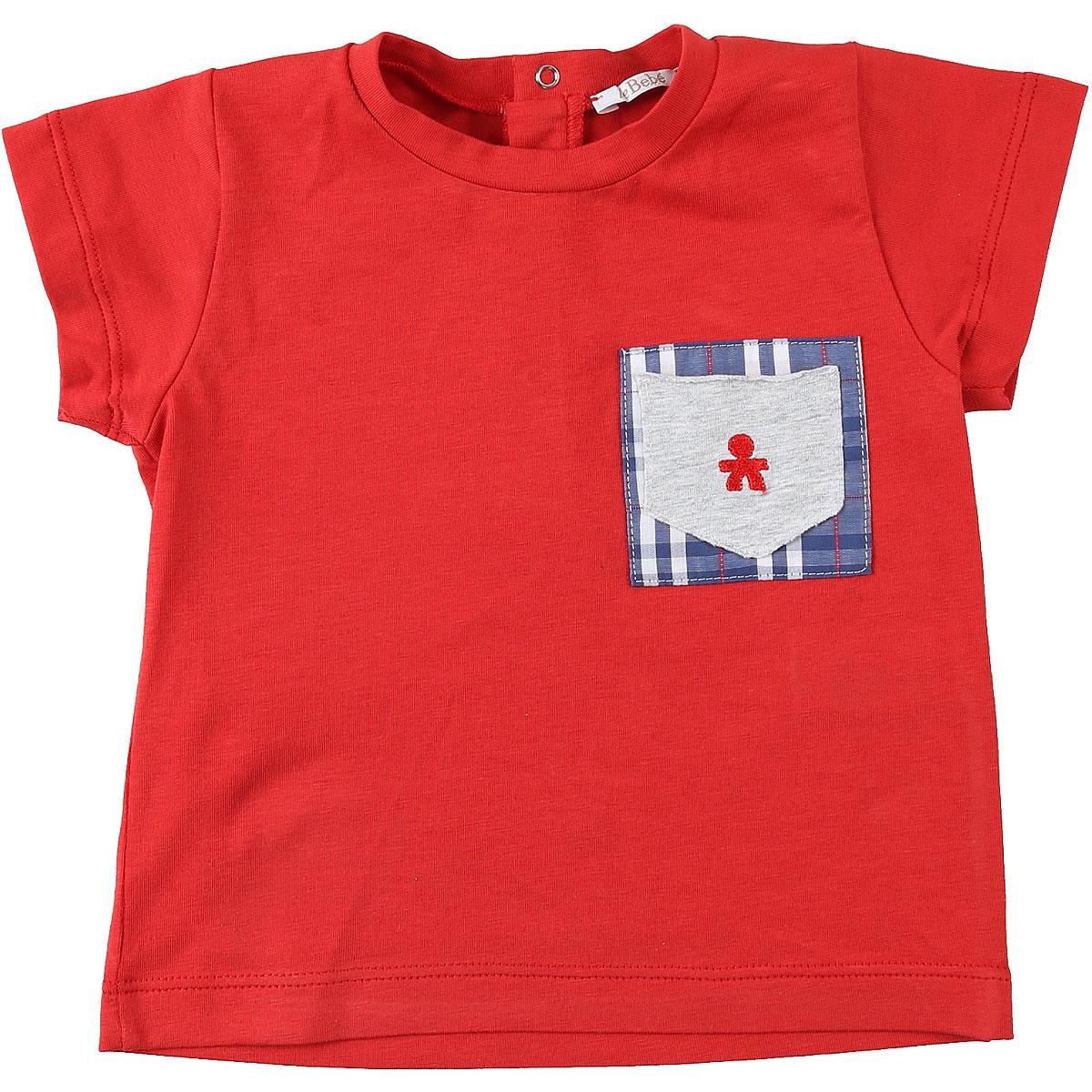 Le Bebe T-Shirt Bébé pour Garçon, Rouge, Coton, 2017, 12M 18M 3M 6M 9M
