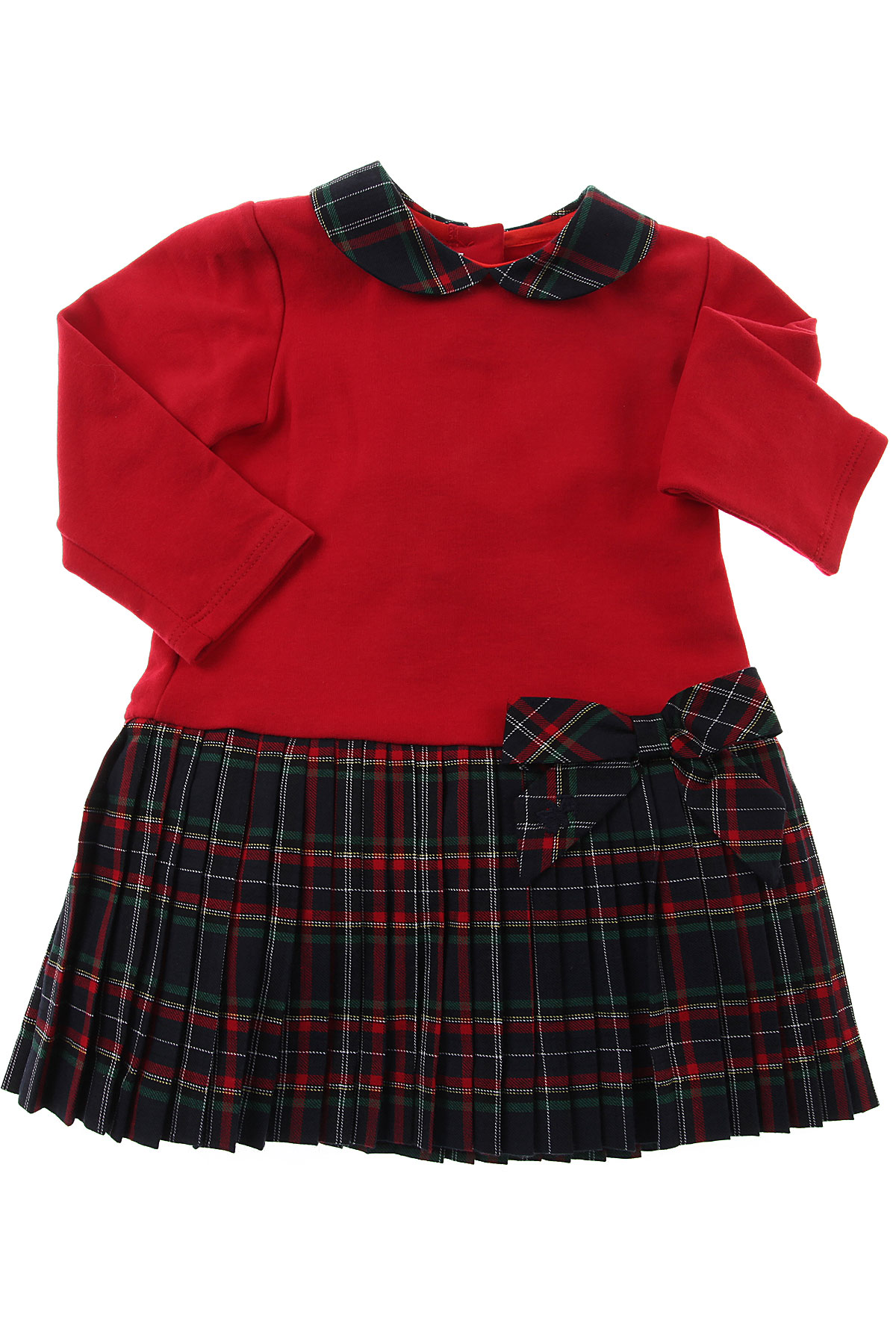 Image of Le Bebe Baby Dress for Girls, Red, Cotton, 2017, 12M 18M 3M 9M