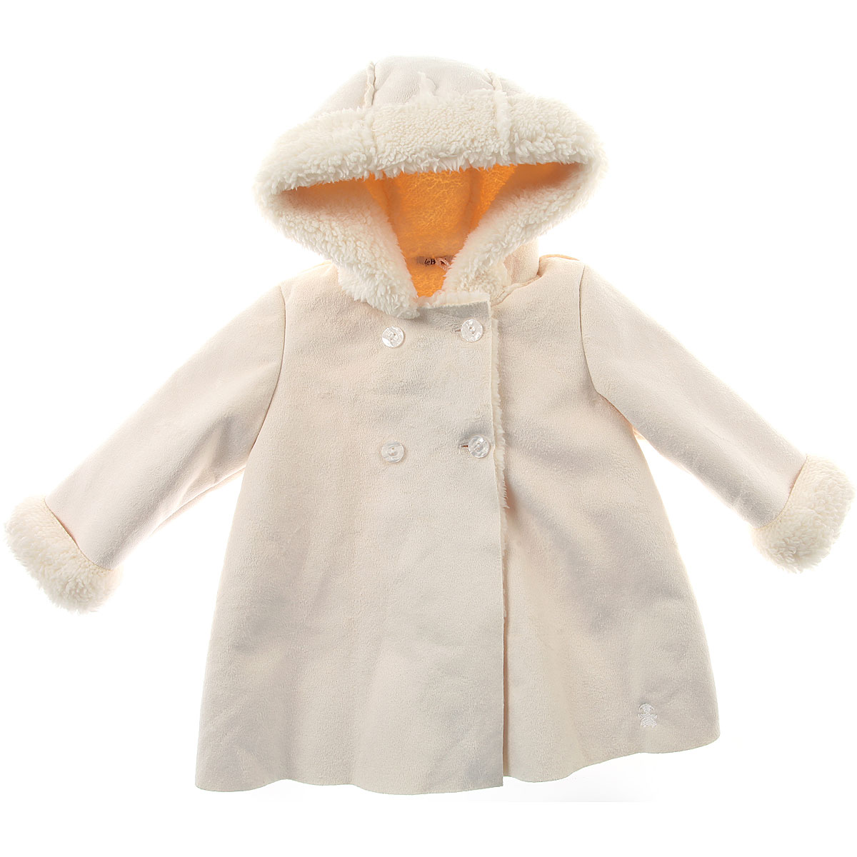 Image of Le Bebe Baby Coats for Girls, Cream, polyester, 2017, 12M 18M 9M