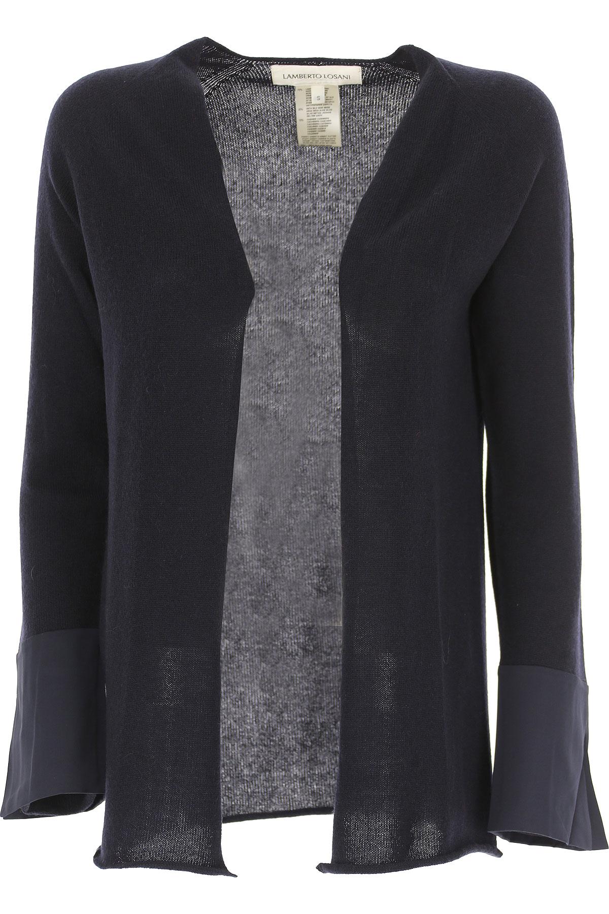 Image of Lamberto Losani Sweater for Women Jumper, Midnight Blue, Virgin wool, 2017, 4 6