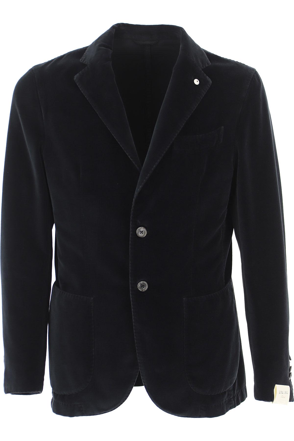 L.B.M. 1911 Blazer for Men, Sport Coat On Sale, navy, Cotton, 2019, L M XXXL