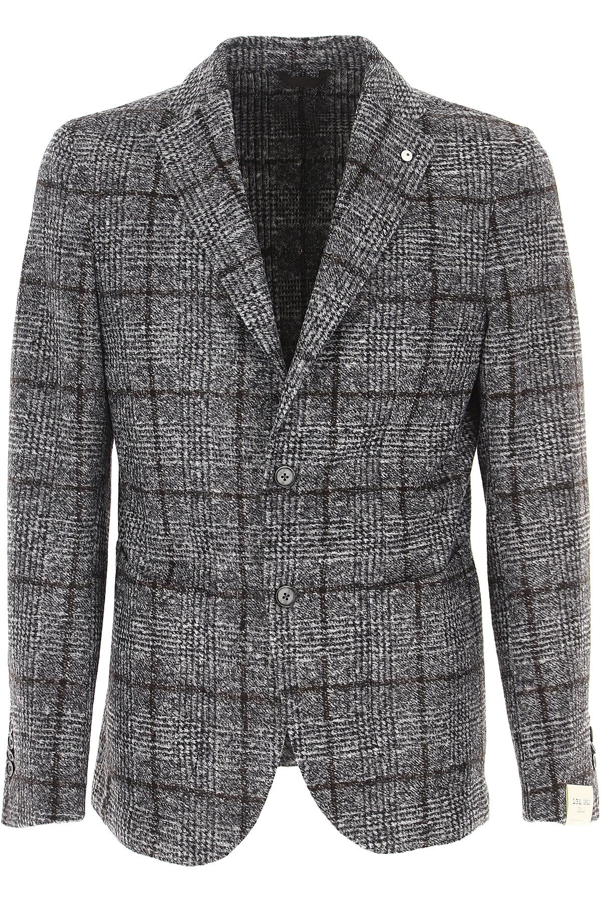 L.B.M. 1911 Blazer for Men, Sport Coat On Sale, Grey, Acrylic, 2019, L M XXL