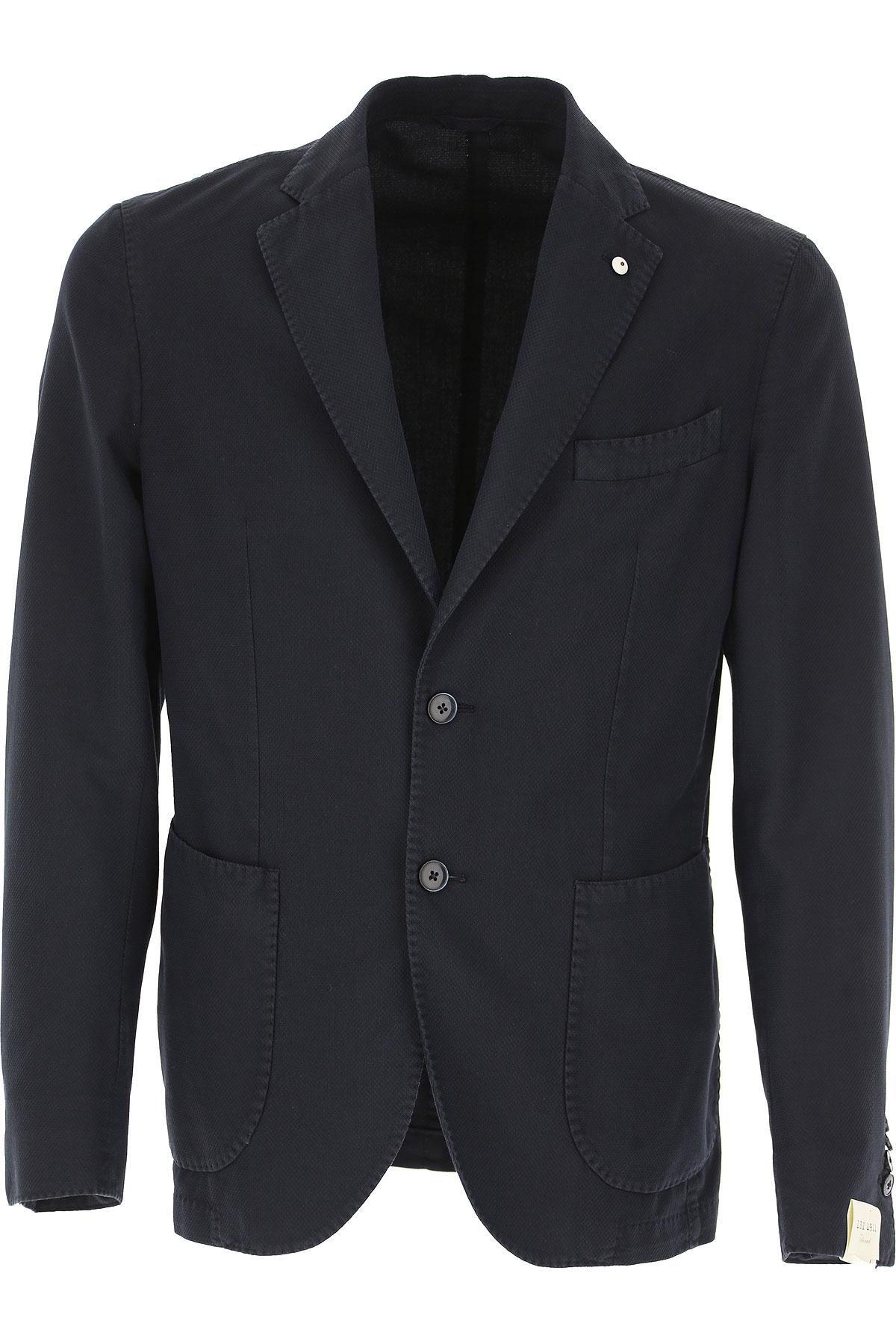 L.B.M. 1911 Blazer Homme, Veste Sport, Bleu marine, Coton, 2017, L M XL XXL