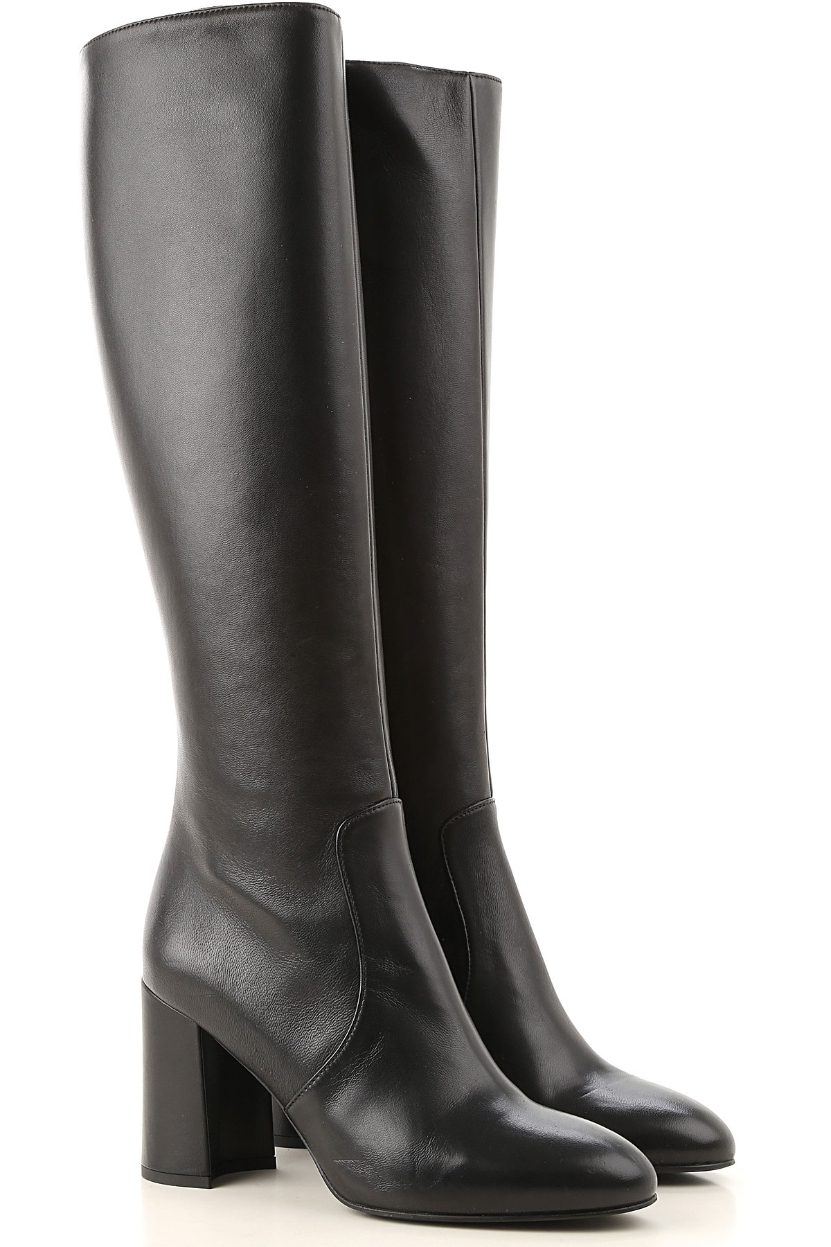 Lella Baldi Boots for Women, Booties On Sale, Black, Leather, 2019, 6 7 8