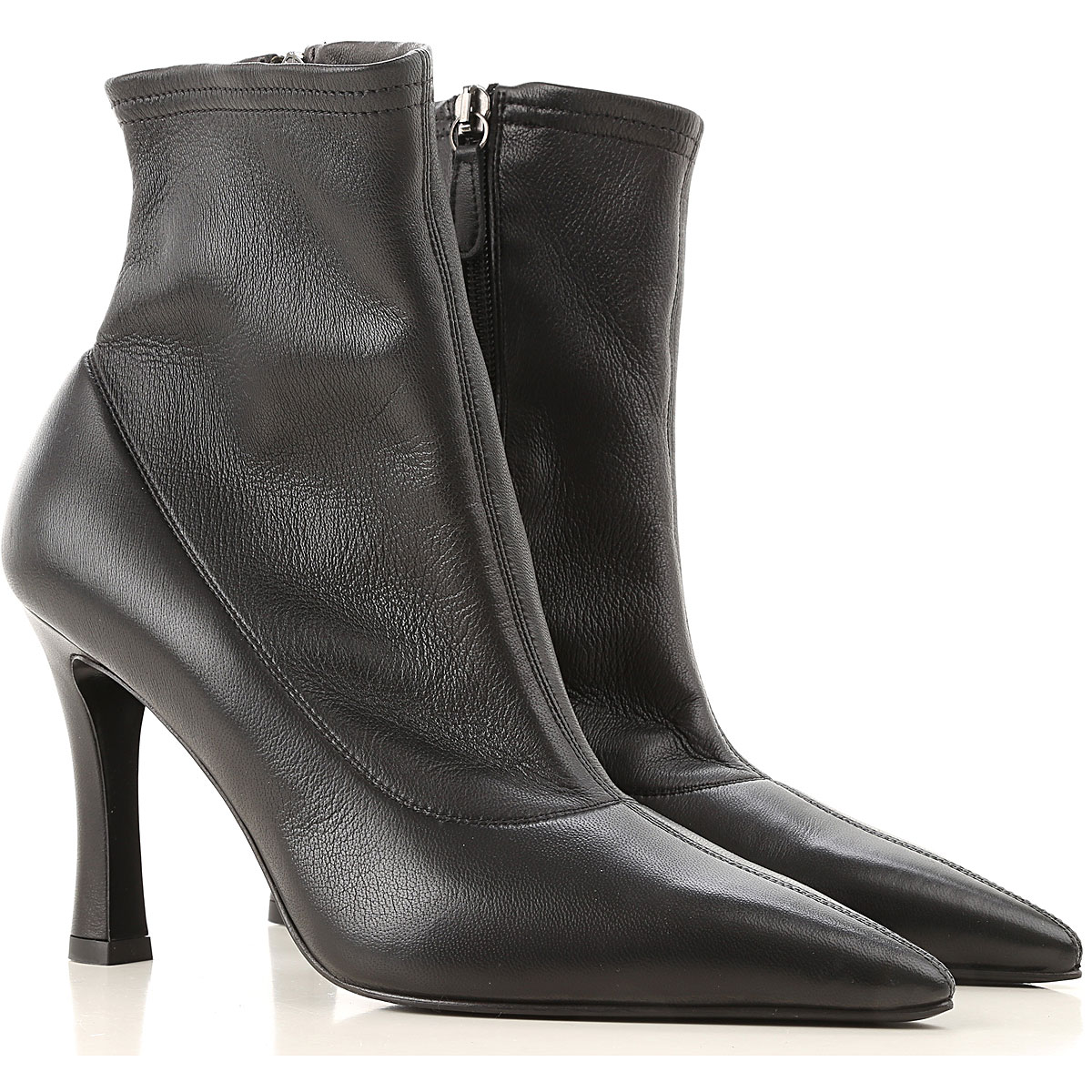 Lella Baldi Boots for Women, Booties On Sale, Black, Leather, 2019, 7 9