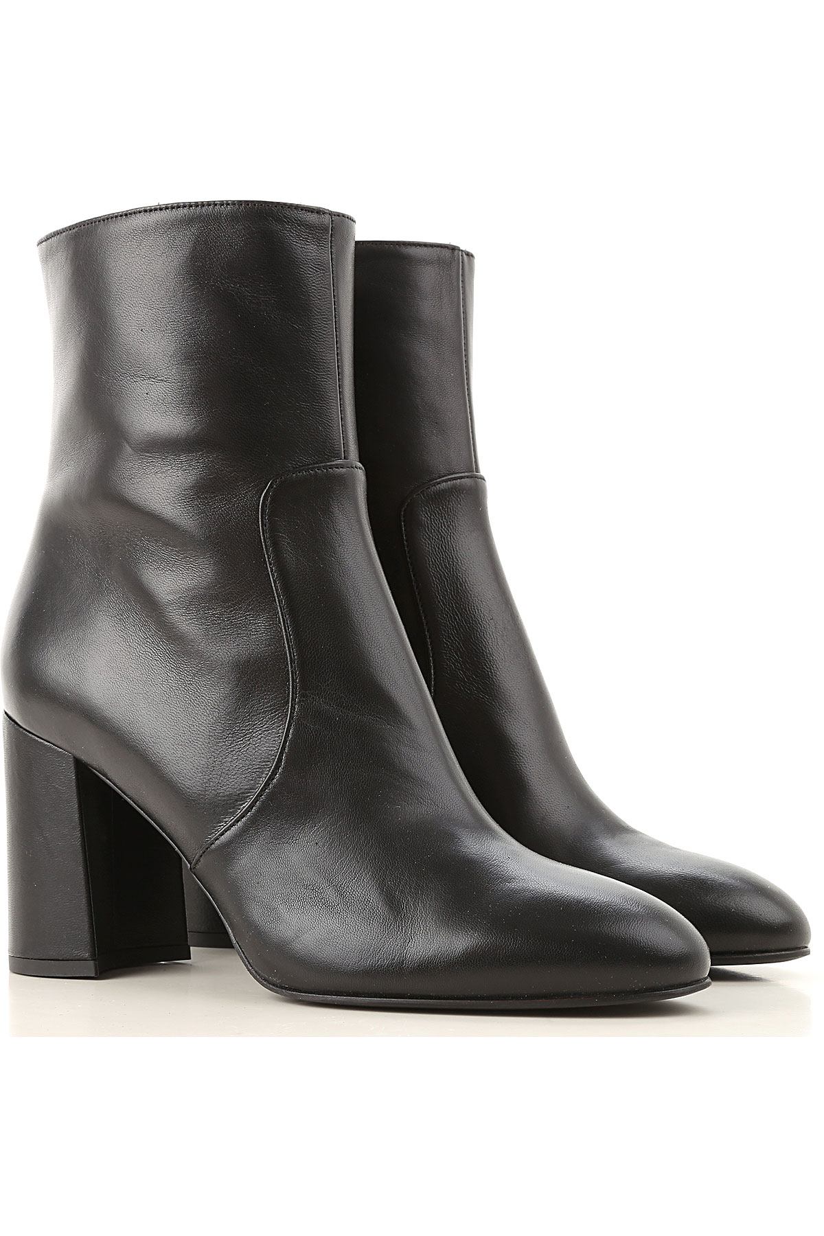 Lella Baldi Boots for Women, Booties On Sale, Black, Leather, 2019, 7 8