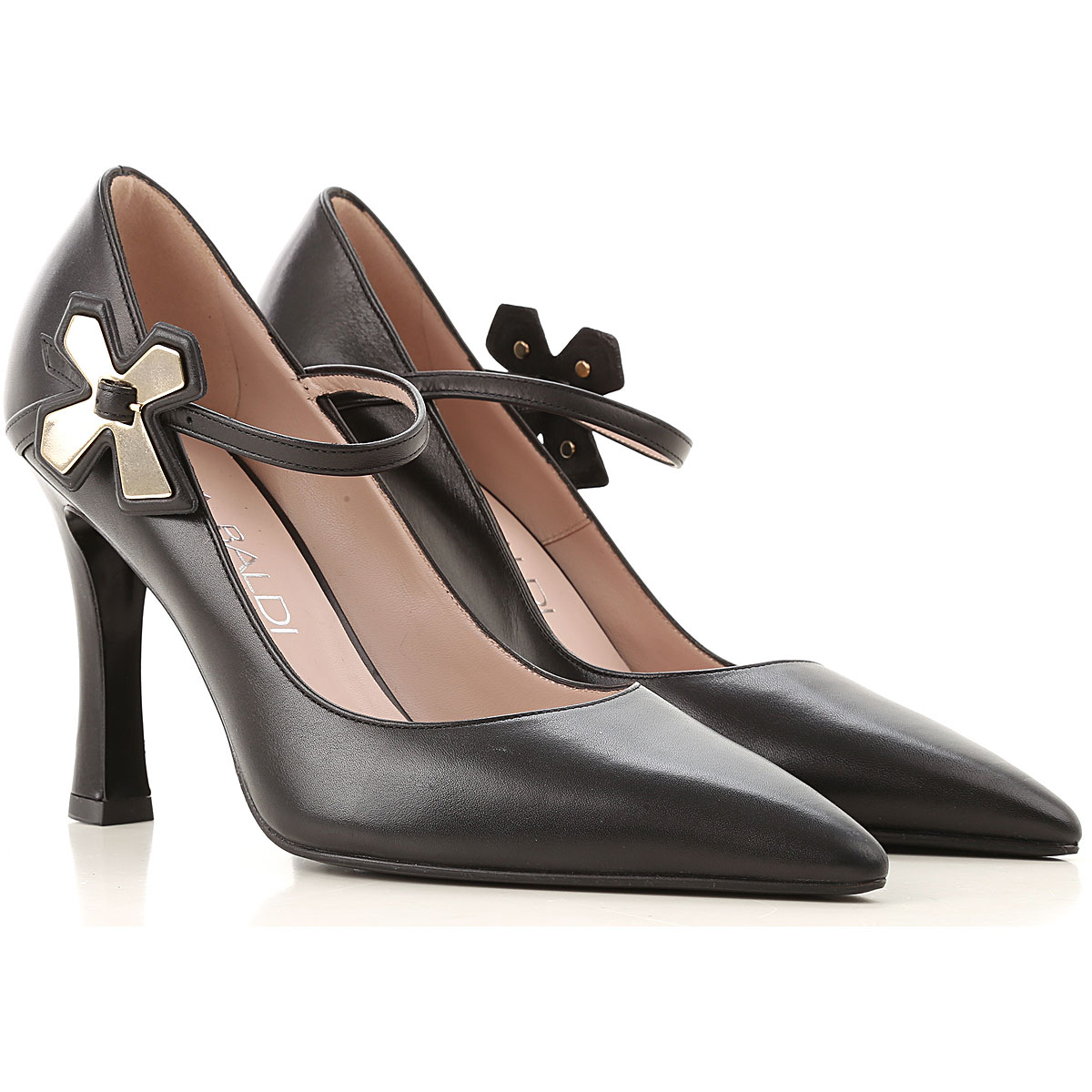 Lella Baldi Pumps & High Heels for Women On Sale, Black, Leather, 2019, 6 7 8