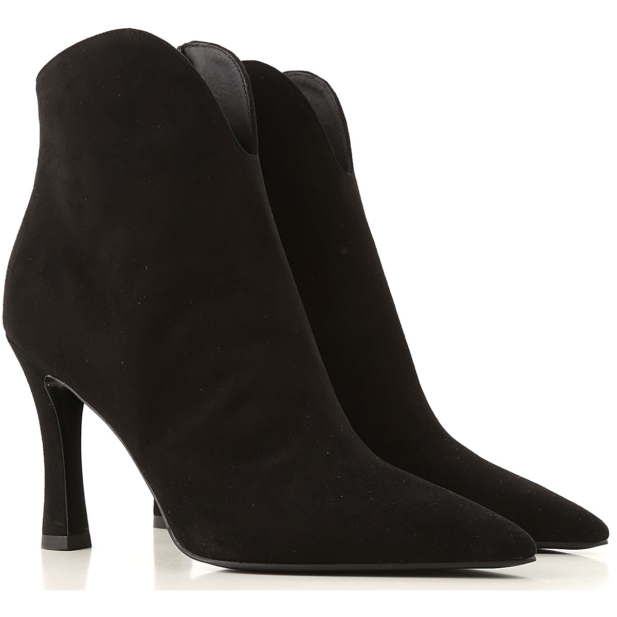 Lella Baldi Boots for Women, Booties On Sale, Black, Suede leather, 2019, 6 8 9