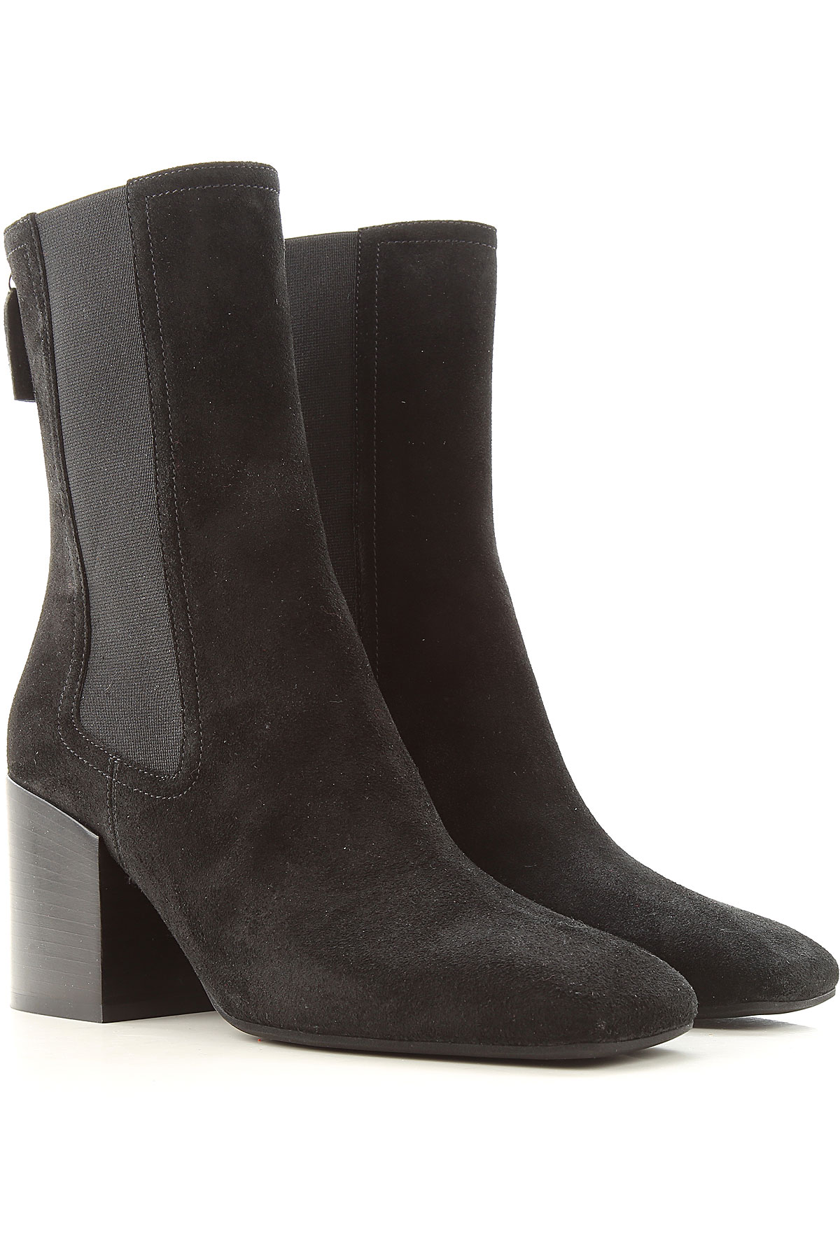 Lella Baldi Boots for Women, Booties On Sale, Black, Suede leather, 2019, 6 7 8 9