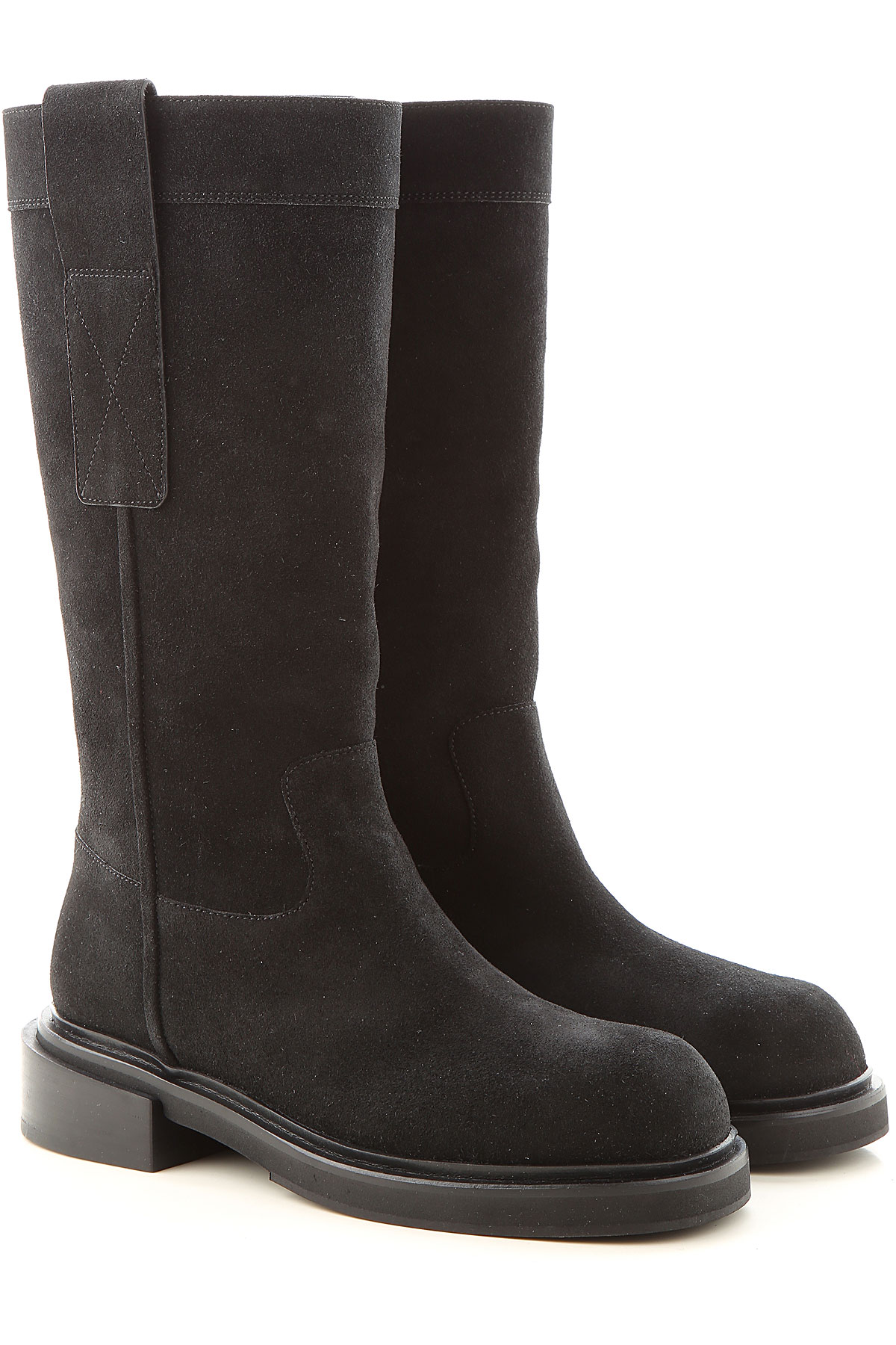 Lella Baldi Boots for Women, Booties On Sale, Black, Suede leather, 2019, 10 7 8 9