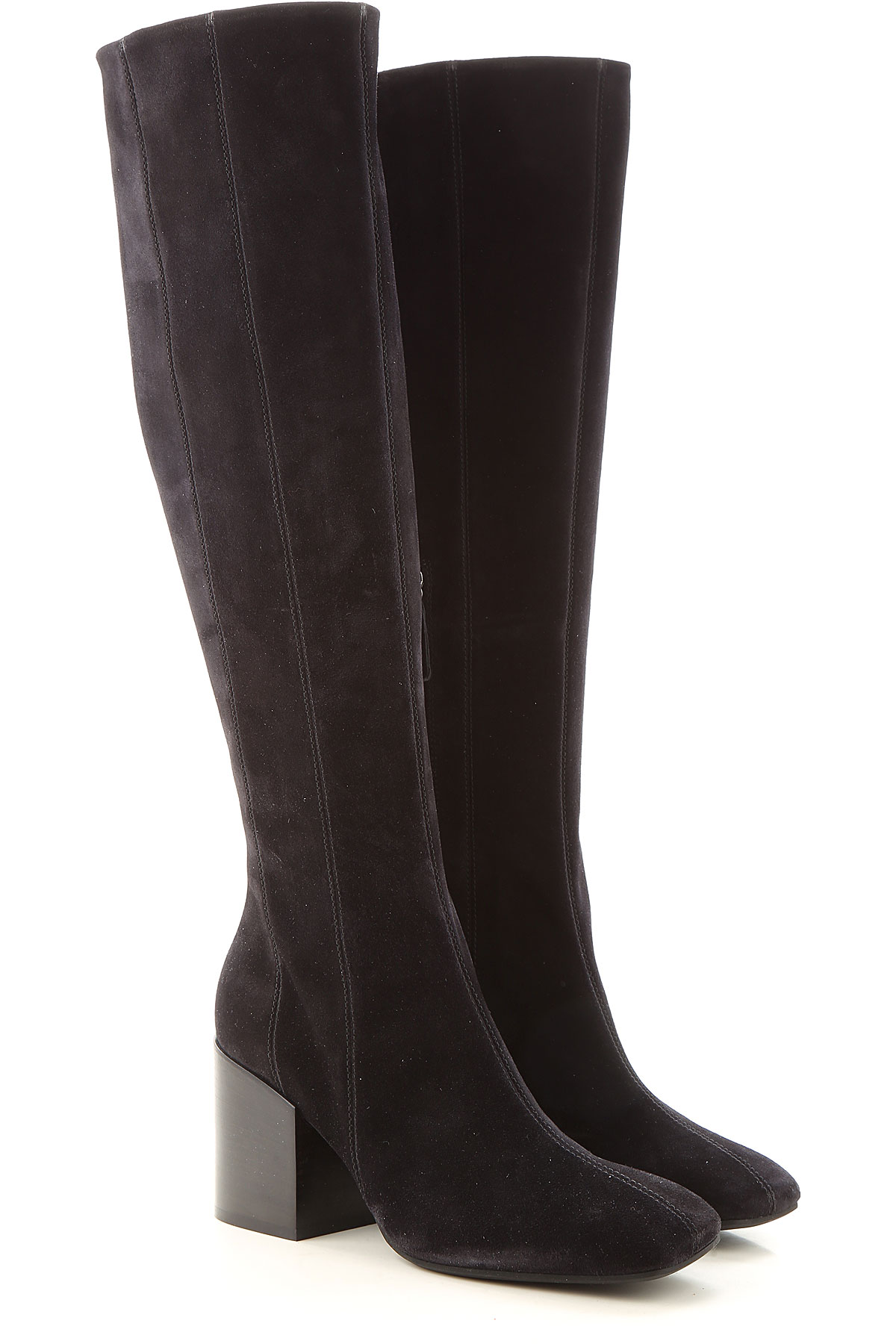 Lella Baldi Boots for Women, Booties On Sale, Black, Suede leather, 2019, 6 7 8