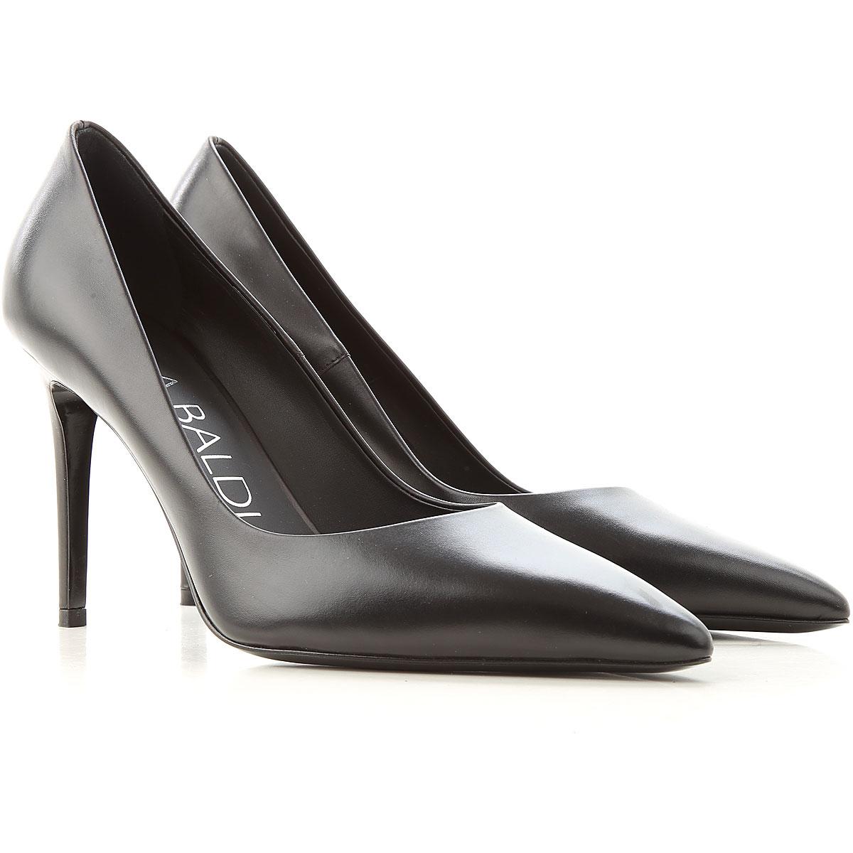 Lella Baldi Pumps & High Heels for Women On Sale, Black, Leather, 2019, 7 8 9