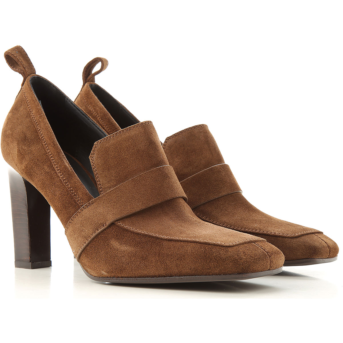 Lella Baldi Pumps & High Heels for Women On Sale, Brown, Suede leather, 2019, 6 7 8 9
