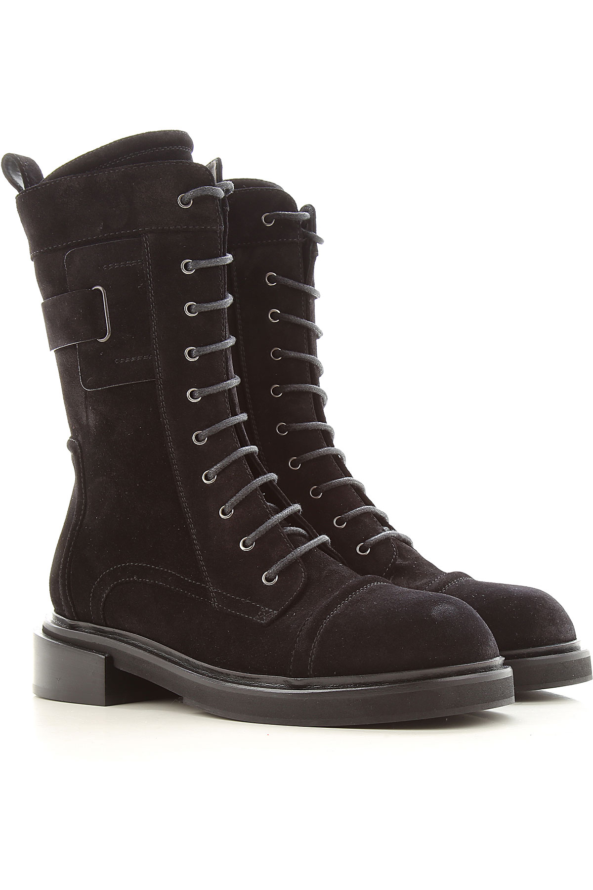 Lella Baldi Boots for Women, Booties On Sale, Black, Suede leather, 2019, 10 6 7 8 9