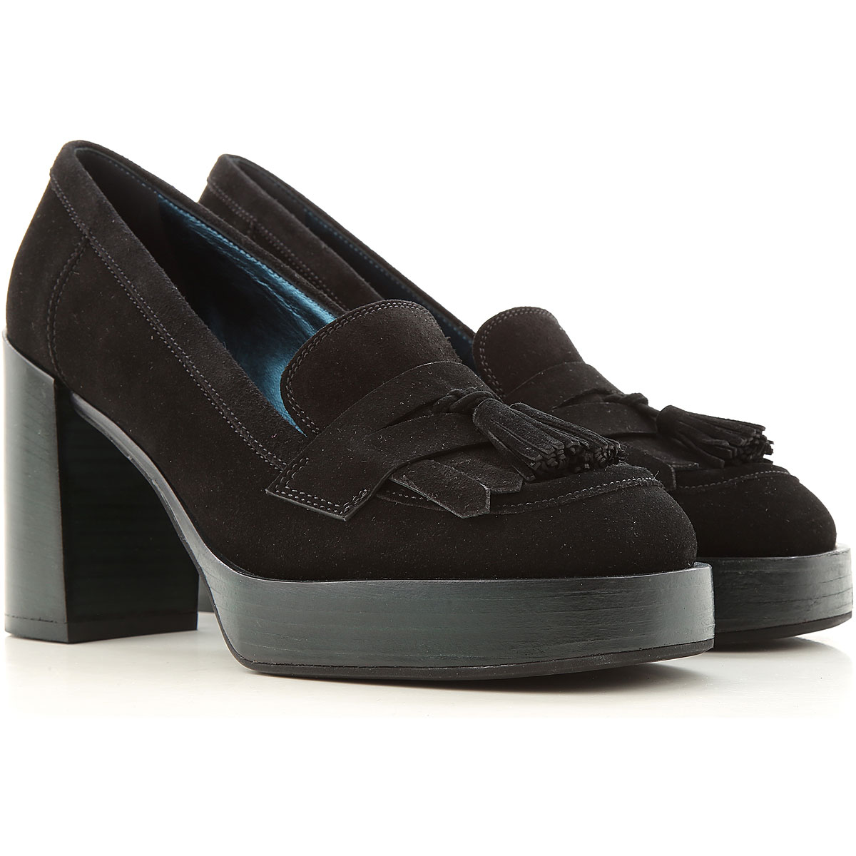 Lella Baldi Pumps & High Heels for Women On Sale, Black, Suede leather, 2019, 6 7 8
