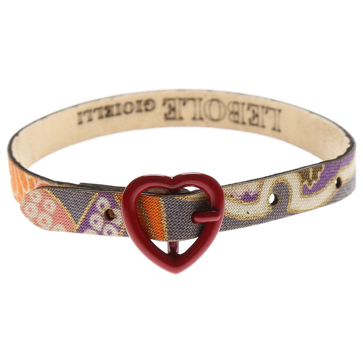 Image of Lebole Bracelet for Women, Grey Melange, Silk, 2017