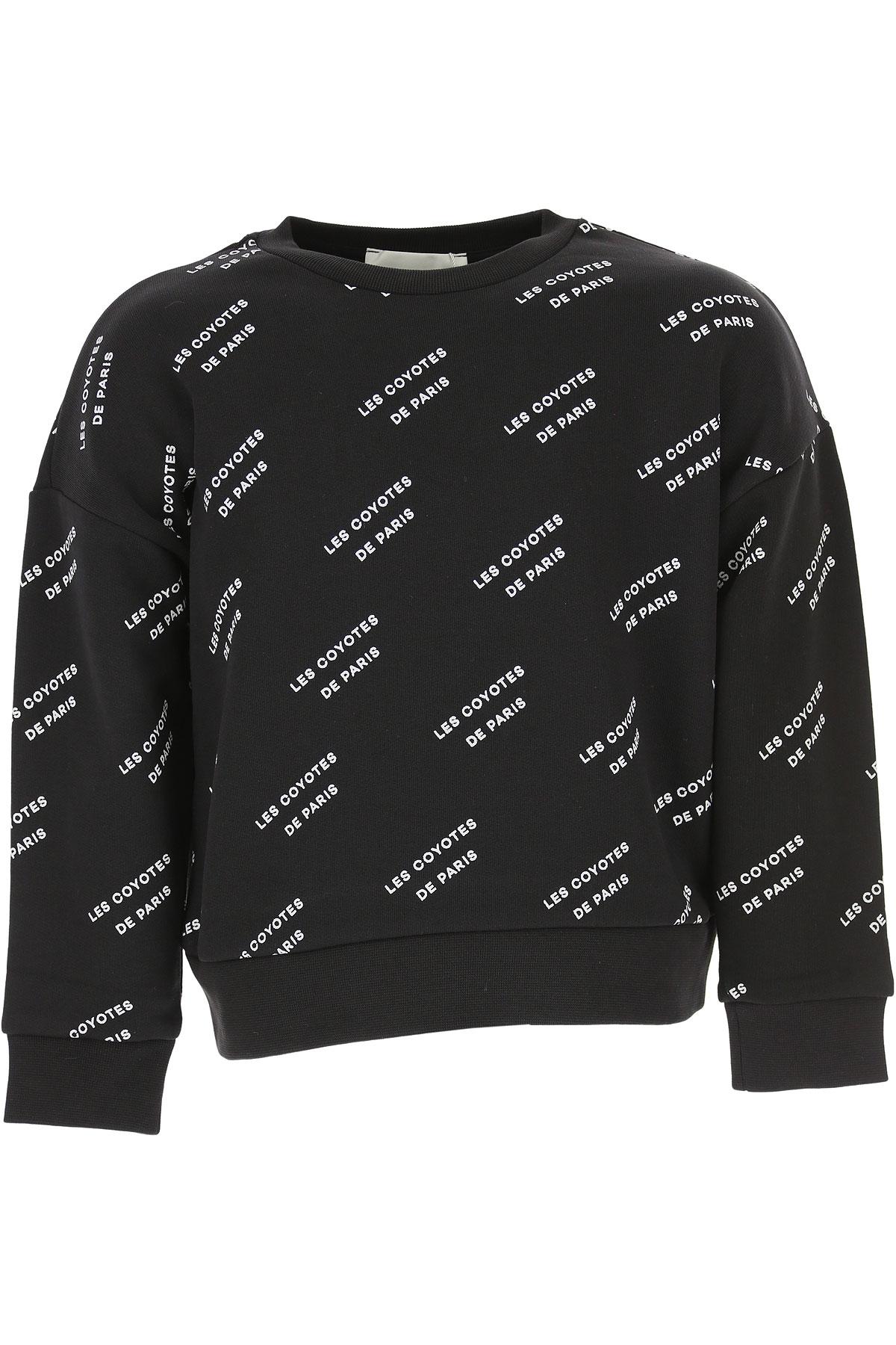 Image of Les Coyotes De Paris Kids Sweatshirts & Hoodies for Girls, Black, Cotton, 2017, 10Y 6Y 8Y