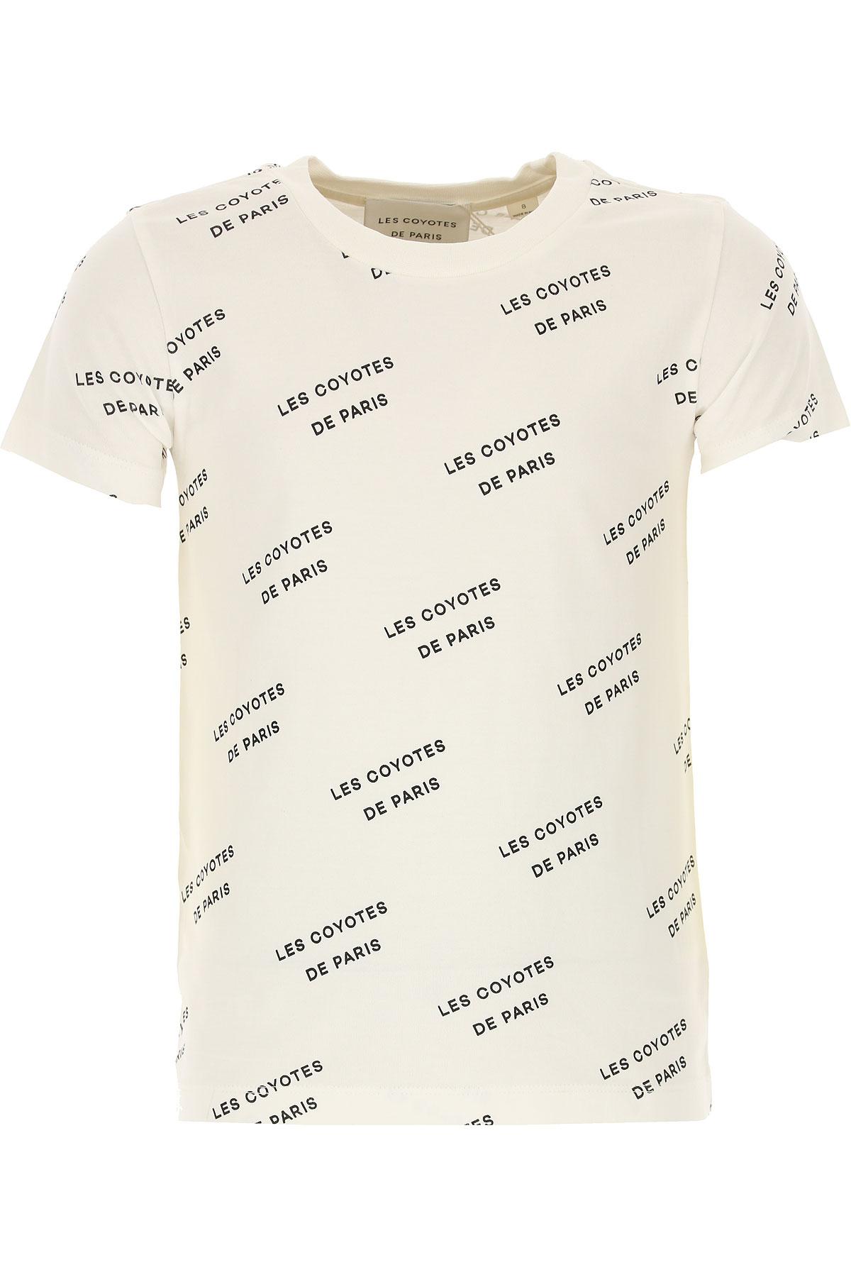 Image of Les Coyotes De Paris Kids T-Shirt for Girls, White, Cotton, 2017, 8Y