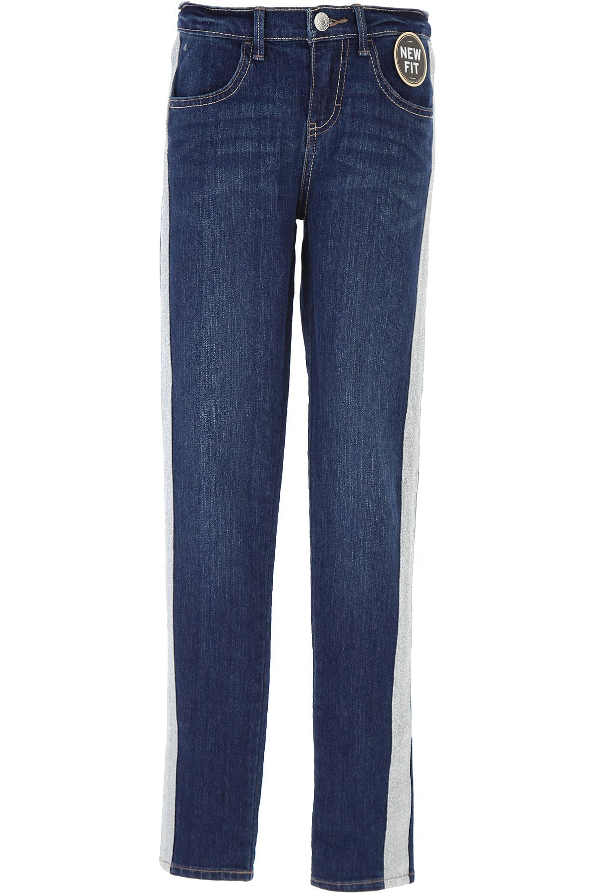 Levis Kids Jeans for Girls On Sale, Blue Denim, Cotton, 2019, 10Y 12Y 14Y 16Y