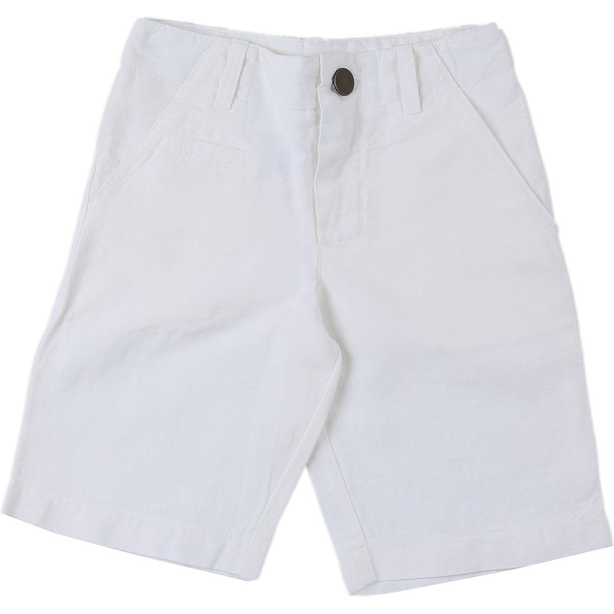 Le Nouveau Ne Baby Shorts for Boys On Sale in Outlet, White, Cotton, 2019, 12 M 2Y