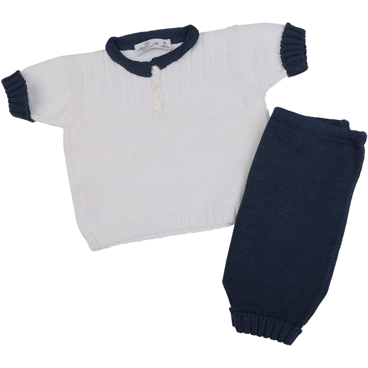 Image of Le Nouveau Ne Baby Sets for Boys On Sale in Outlet, White, Cotton, 2017, 3M 6M 9M