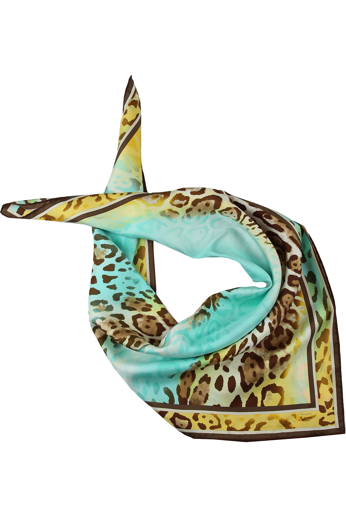 Leonard Scarf for Women On Sale, Brown, Silk, 2019