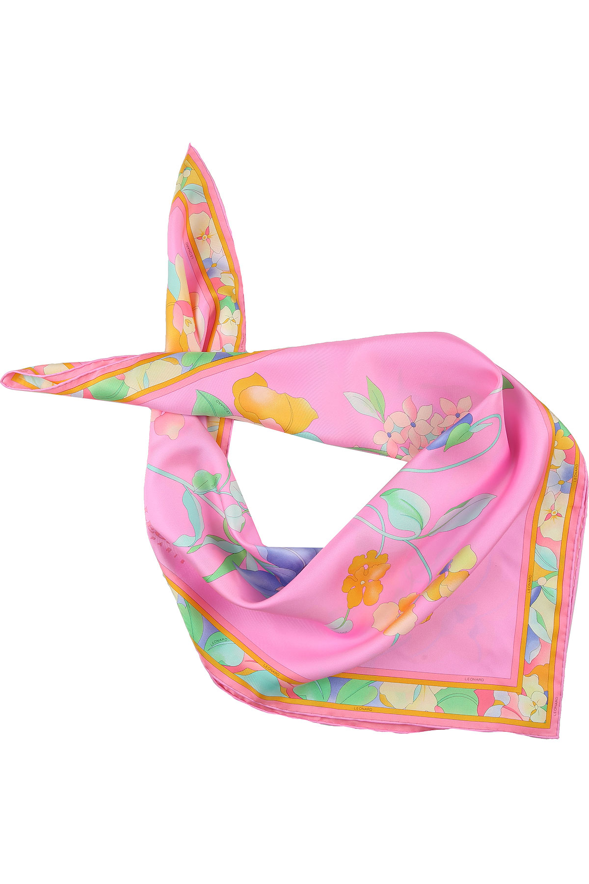 Leonard Scarf for Women On Sale, Candy Pink, Silk, 2019