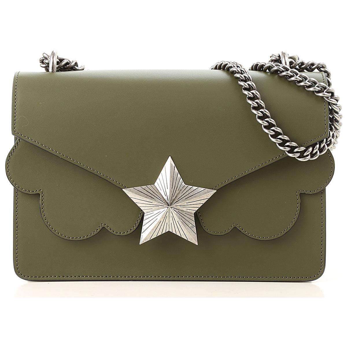 Image of Les Jeunes Etoiles Shoulder Bag for Women, Green, Leather, 2017