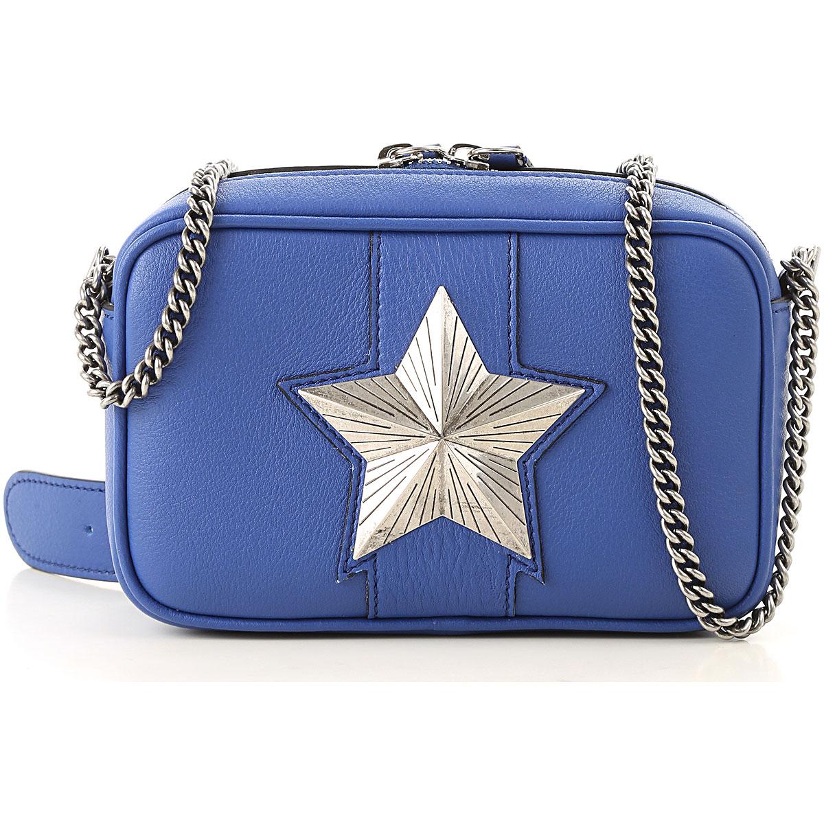 Image of Les Jeunes Etoiles Shoulder Bag for Women, Vega, Blue, Leather, 2017