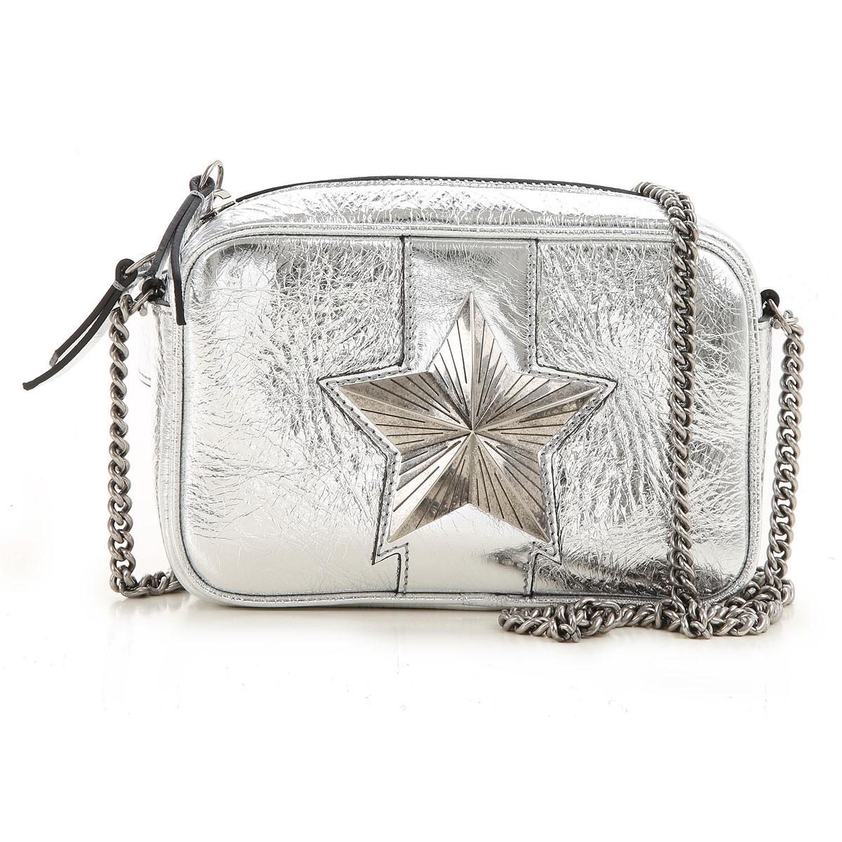 Les Jeunes Etoiles Shoulder Bag for Women On Sale, Silver, Leather, 2019