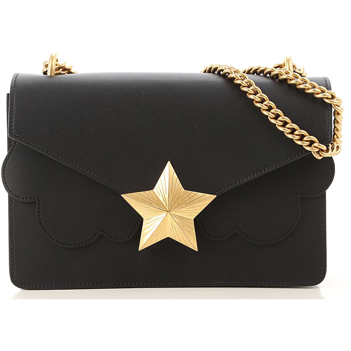 Les Jeunes Etoiles Shoulder Bag for Women On Sale, Black, Leather, 2019
