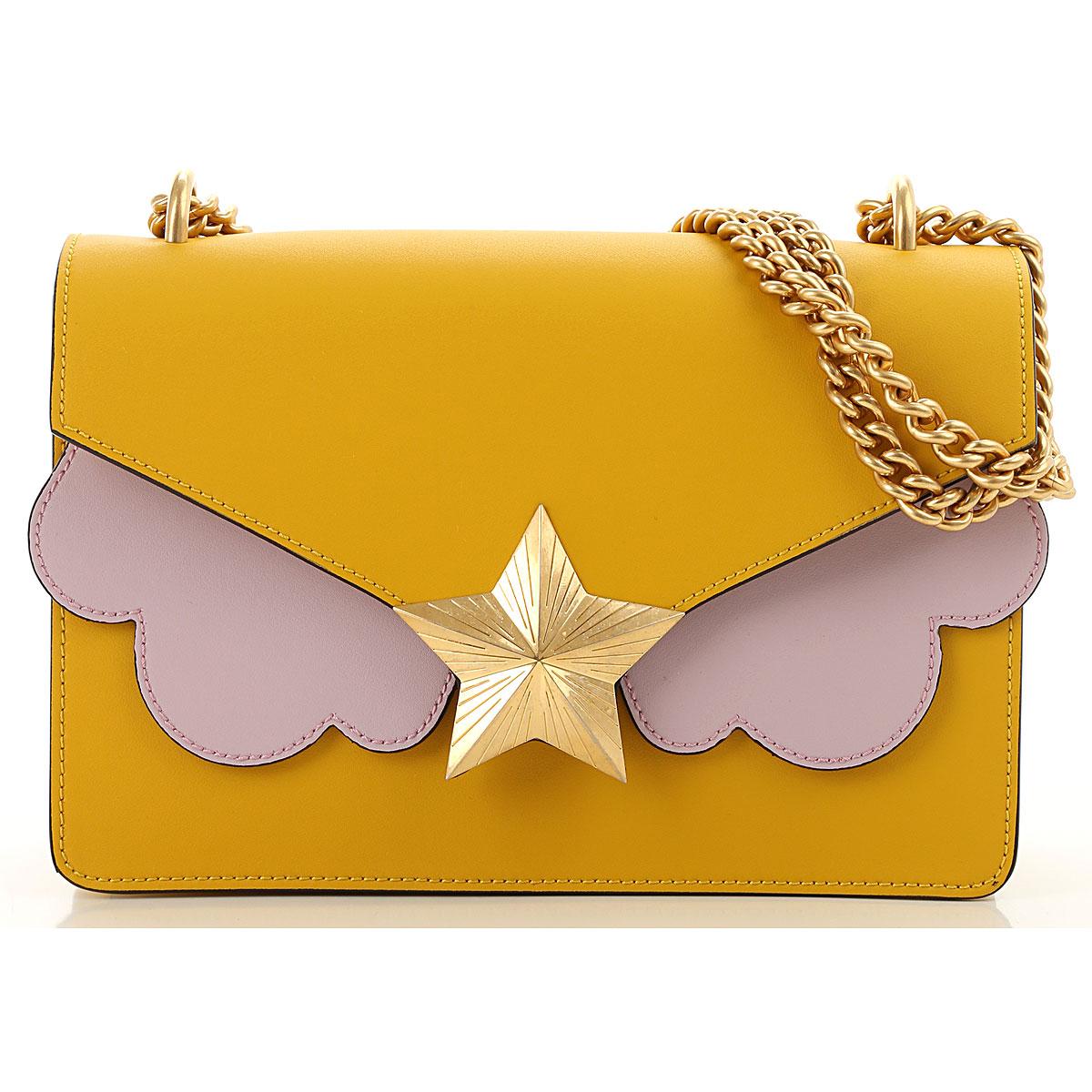 Les Jeunes Etoiles Shoulder Bag for Women On Sale, Yellow, Leather, 2019