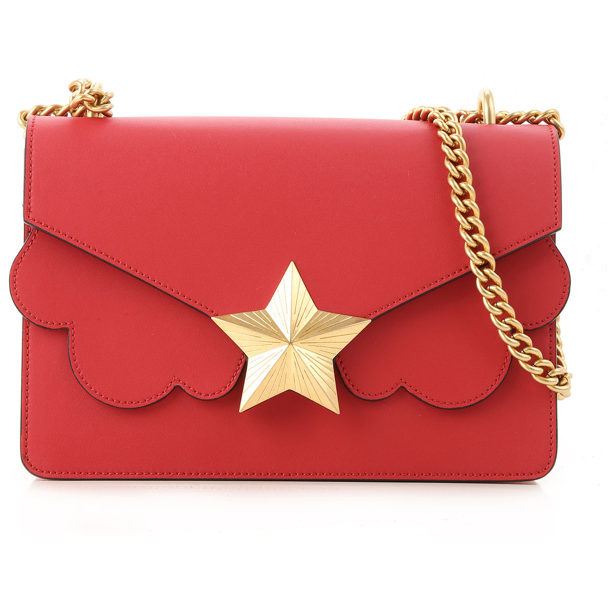 Les Jeunes Etoiles Shoulder Bag for Women On Sale, Red, Leather, 2019