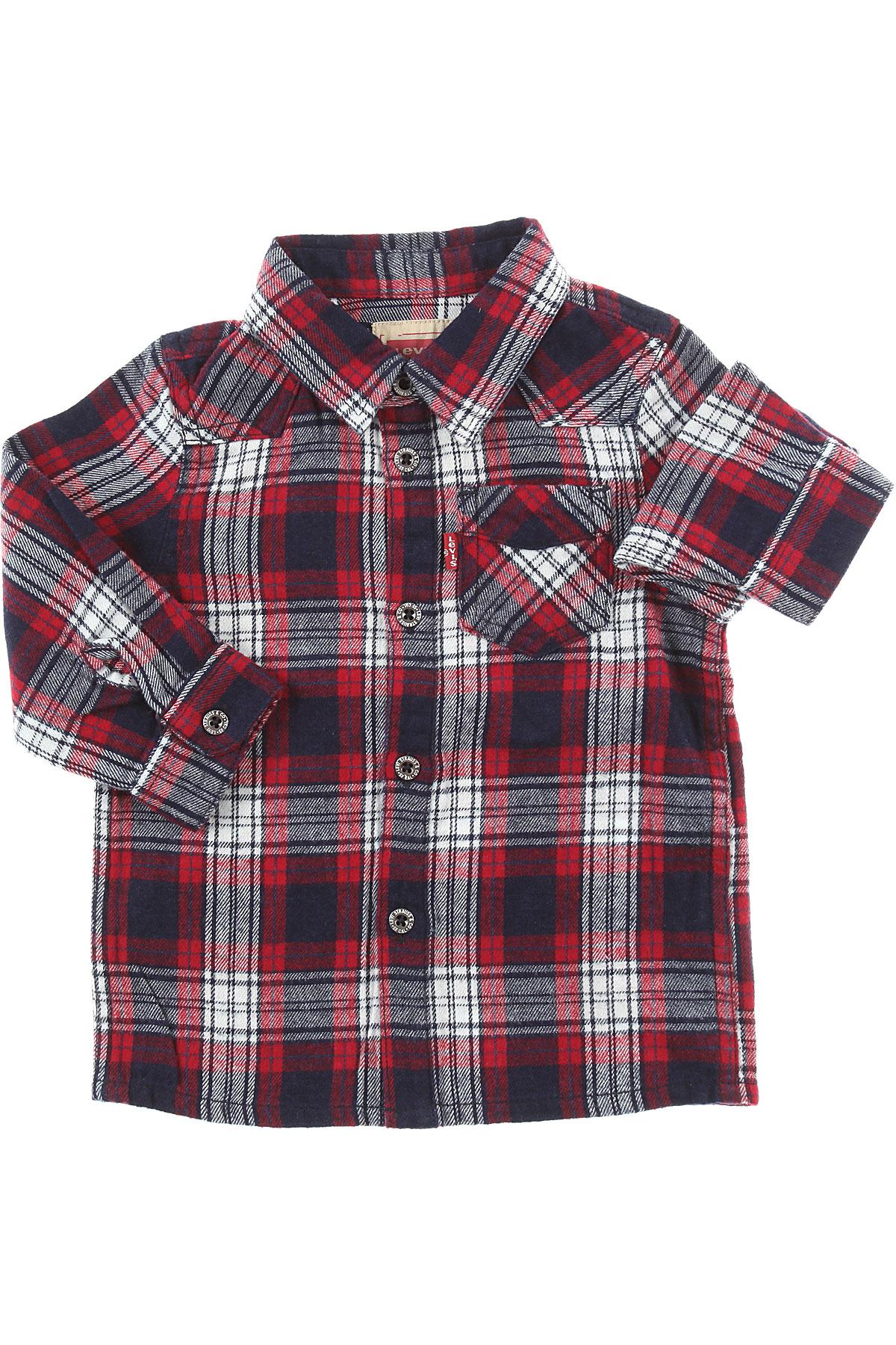 Levis Baby Shirts for Boys On Sale, Bordeaux, Cotton, 2019, 12 M 6M 9M