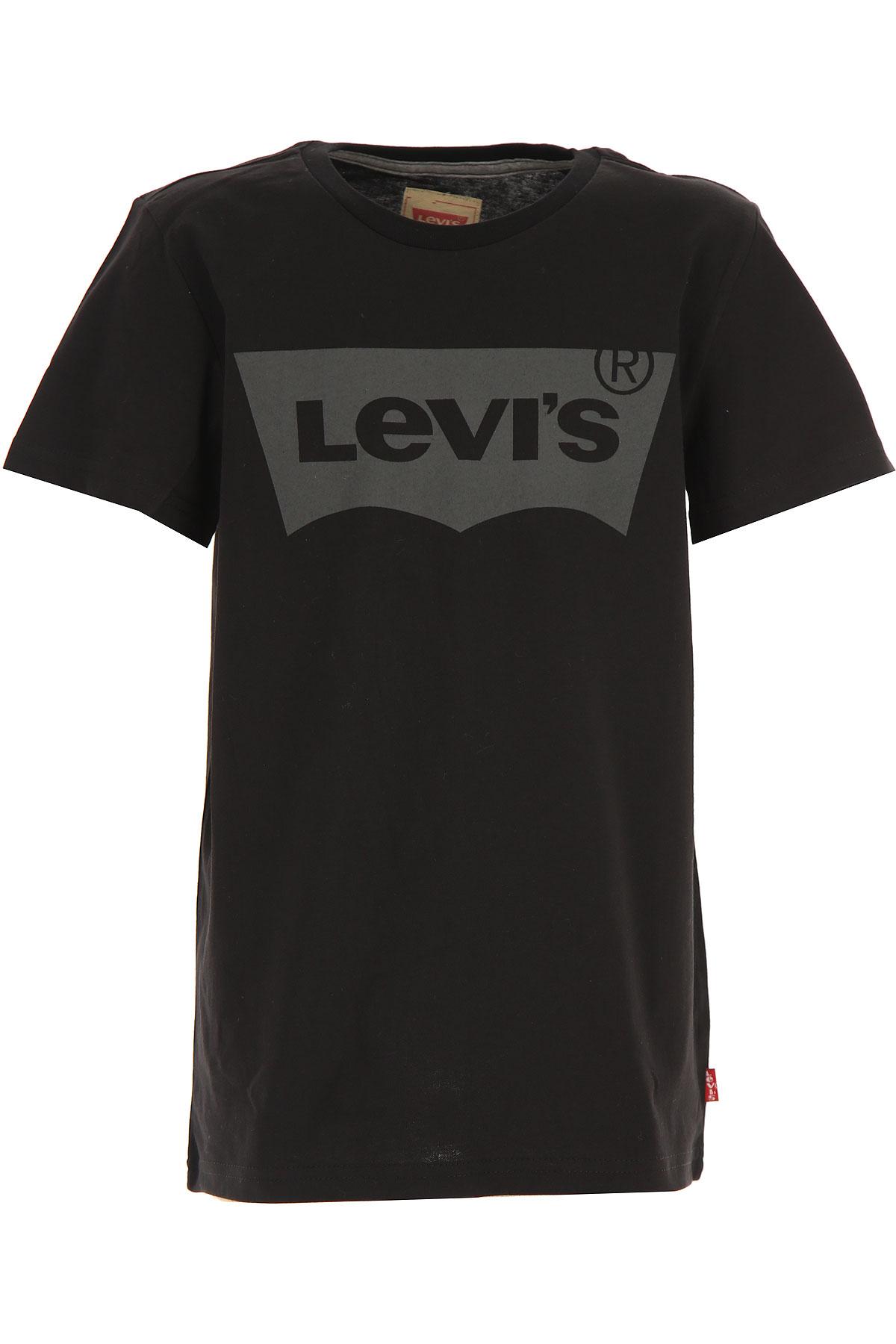 Levis Kids T-Shirt for Boys On Sale, Black, Cotton, 2019, 10Y 14Y 16Y 8Y