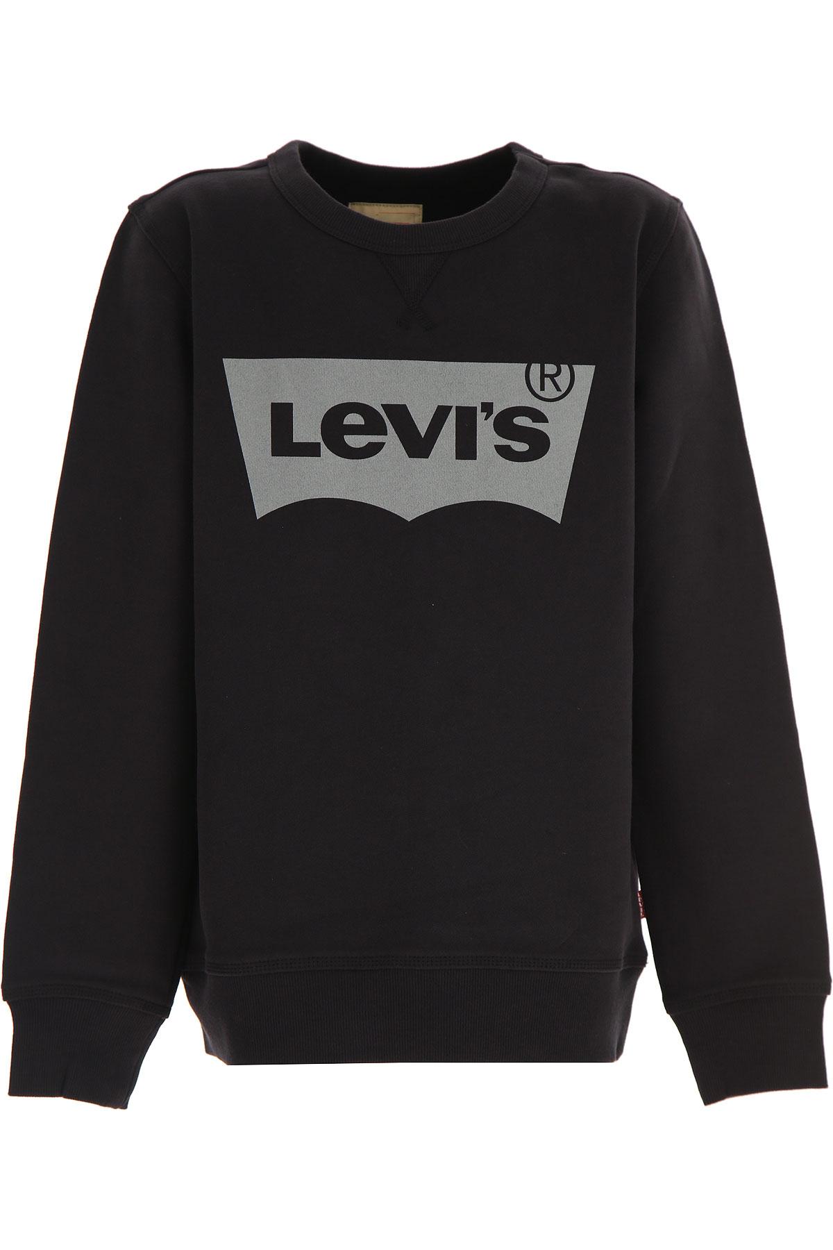 Levis Kids Sweatshirts & Hoodies for Boys On Sale, Black, Cotton, 2019, 10Y 14Y 8Y