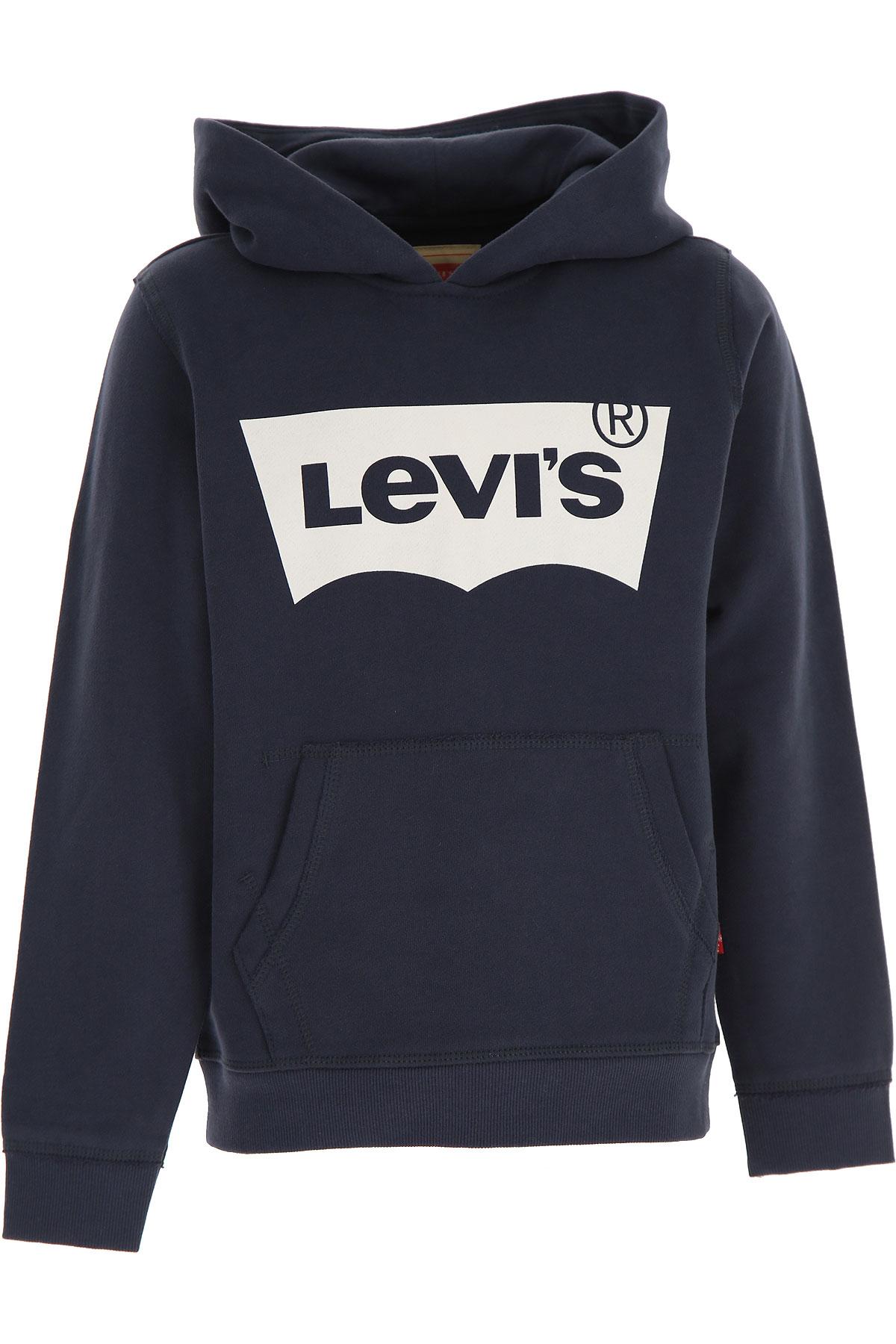 Levis Kids Sweatshirts & Hoodies for Boys On Sale, Blue, Cotton, 2019, 16Y 2Y 3Y 4Y 6Y 8Y