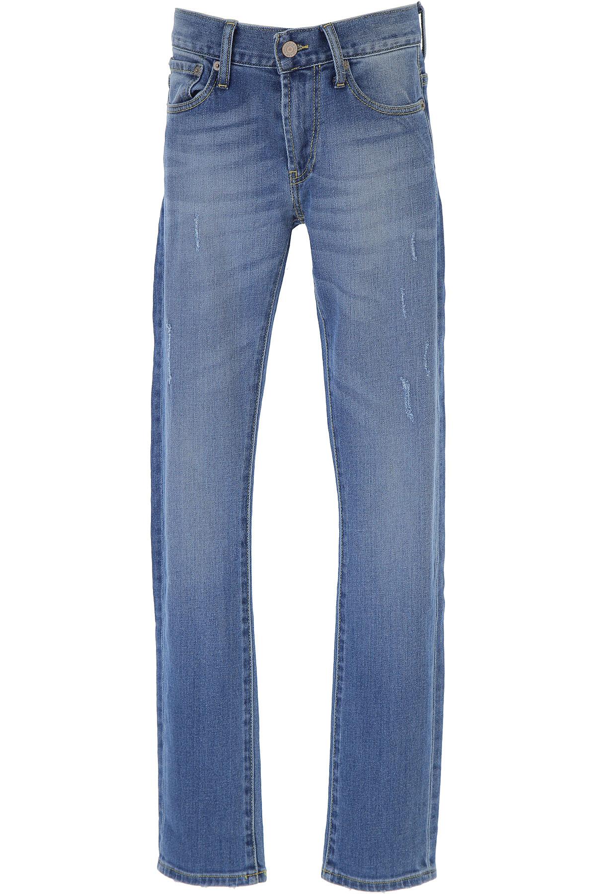 Levis Kids Jeans for Boys On Sale, Denim Light Blue, Cotton, 2019, 10Y 12Y