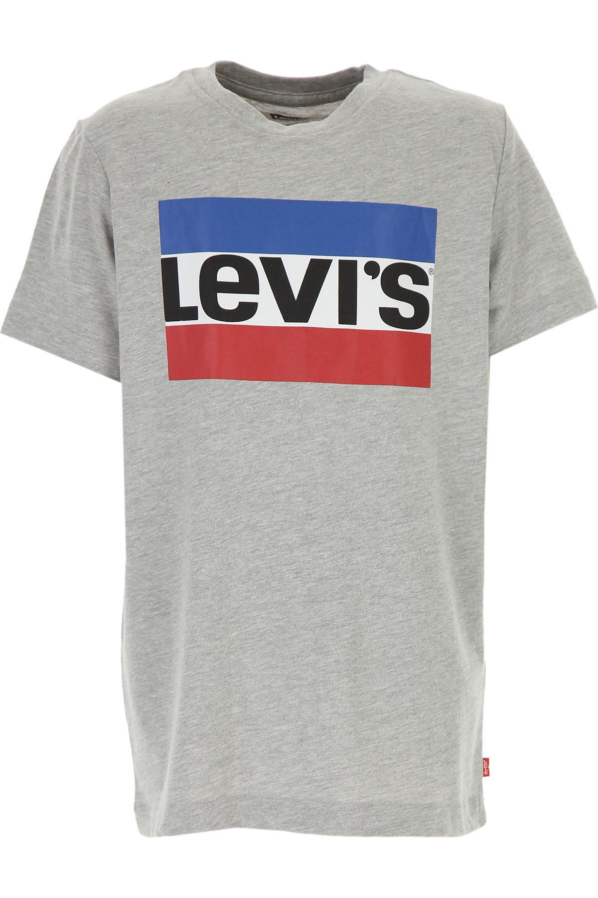 Levis Kids T-Shirt for Boys On Sale, Grey, Cotton, 2019, 10Y 12Y 14Y 16Y 8Y