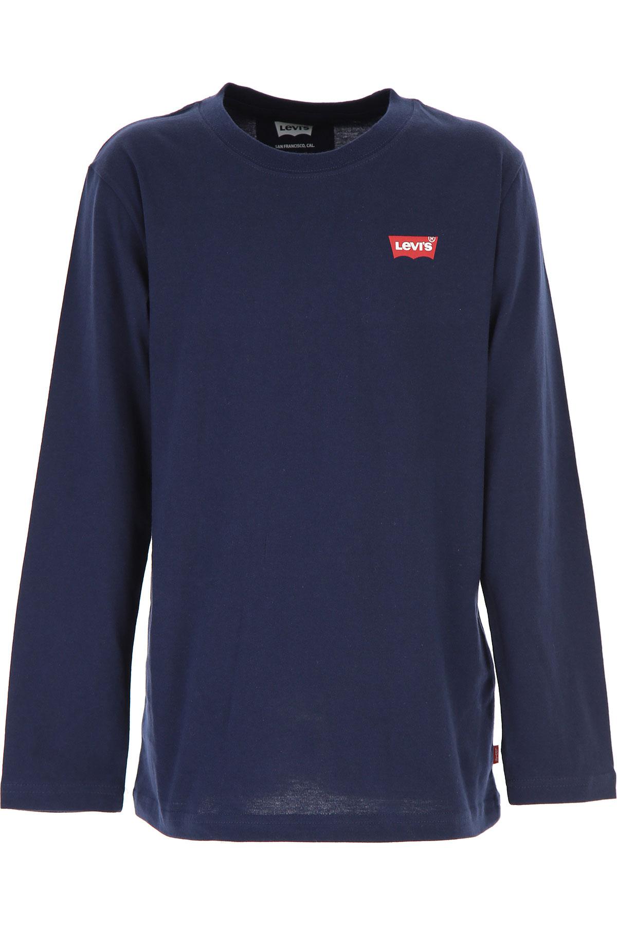 Levis Kids T-Shirt for Boys On Sale, Blue, Cotton, 2019, 10Y 12Y 14Y 16Y 2Y 3Y 4Y 6Y S