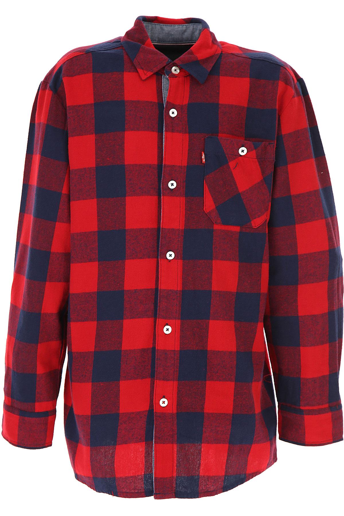 Levis Kids Shirts for Boys On Sale, Red, Cotton, 2019, 12Y 16Y 4Y 8Y