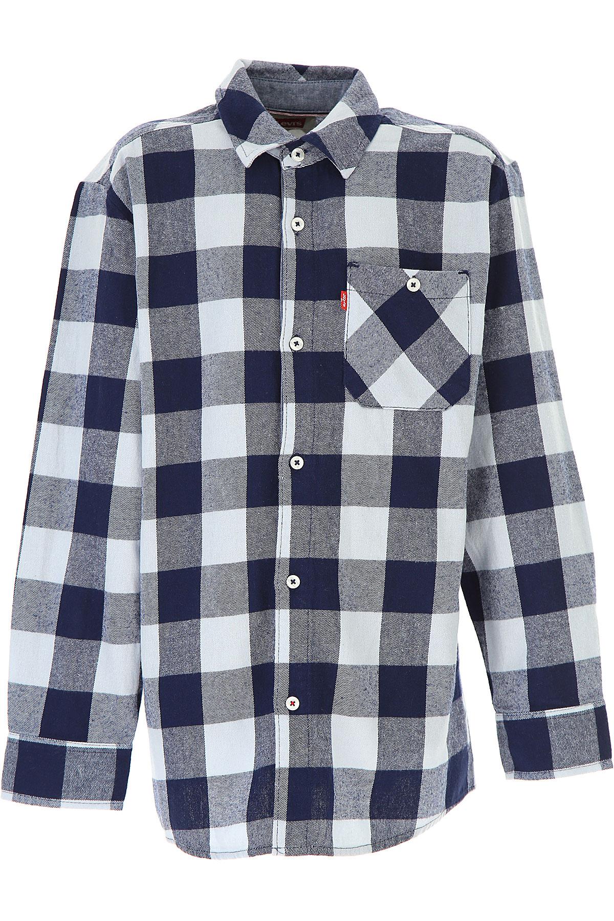 Levis Kids Shirts for Boys On Sale, Blue, Cotton, 2019, 10Y 12Y 14Y 16Y 4Y 6Y 8Y
