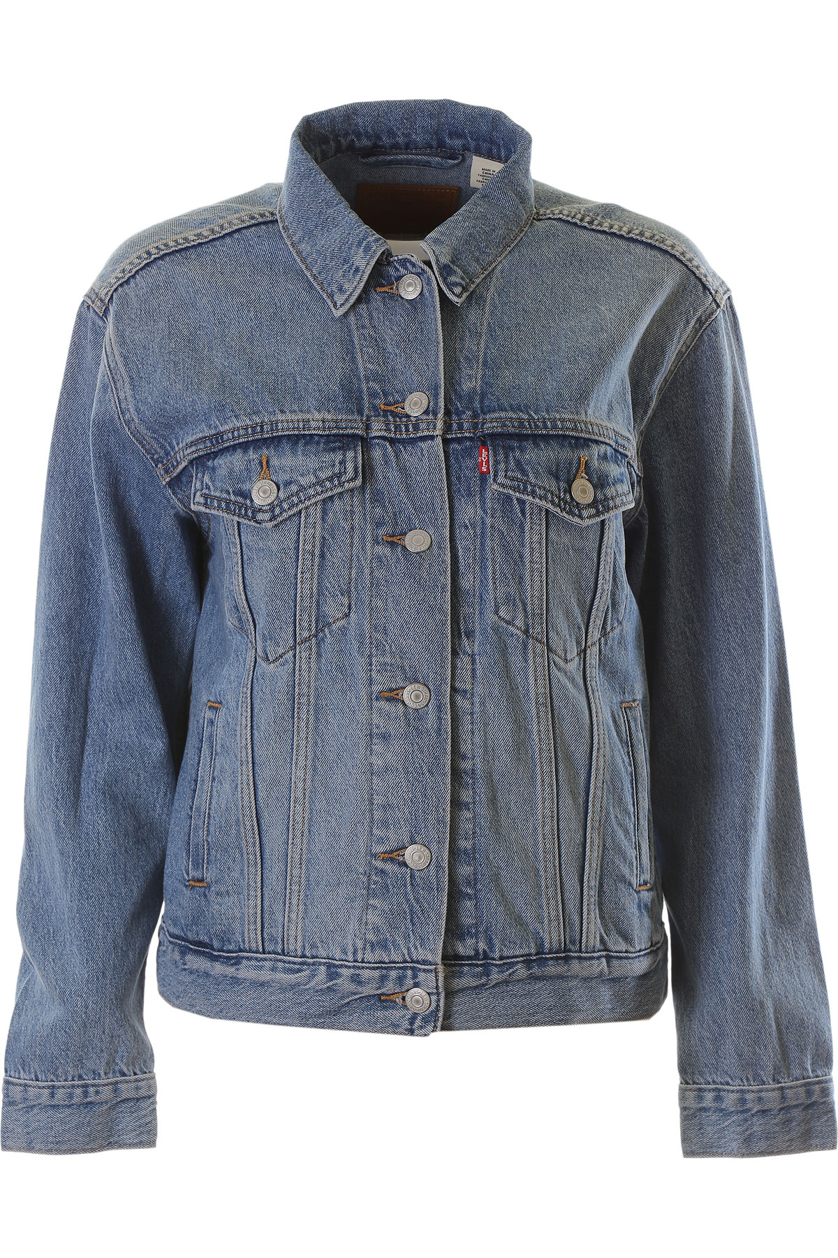 Levis Jacket for Women On Sale, Denim, Cotton, 2019, 2 4