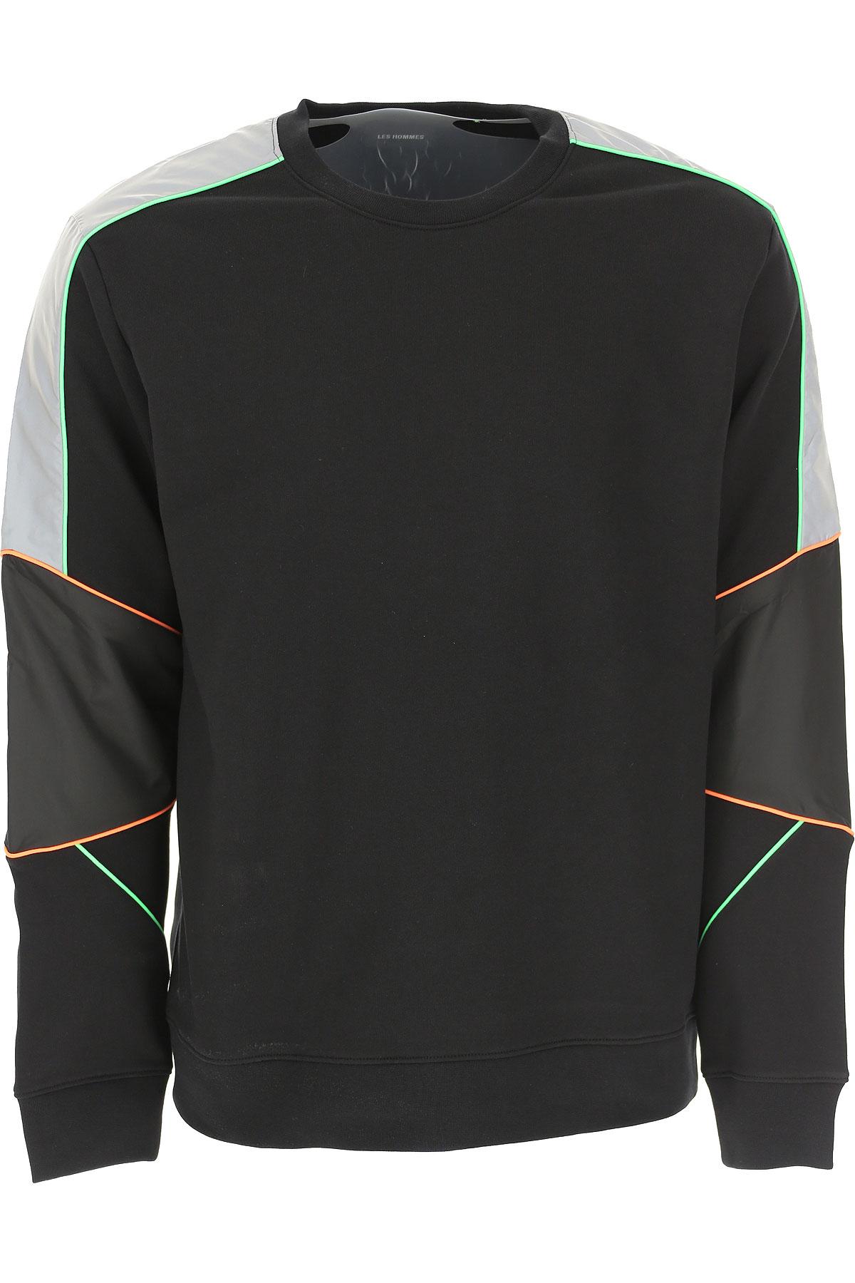 Les Hommes Sweatshirt for Men On Sale, Black, Cotton, 2019, L M XL
