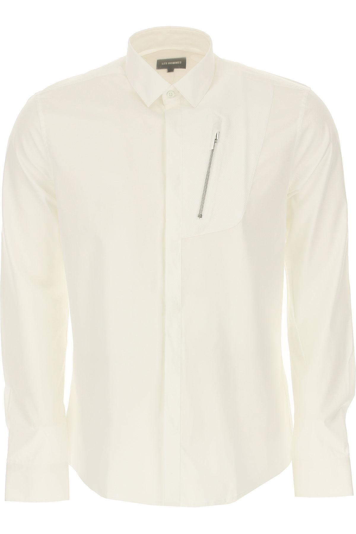 Les Hommes Shirt for Men On Sale, White, Cotton, 2019, L M XL
