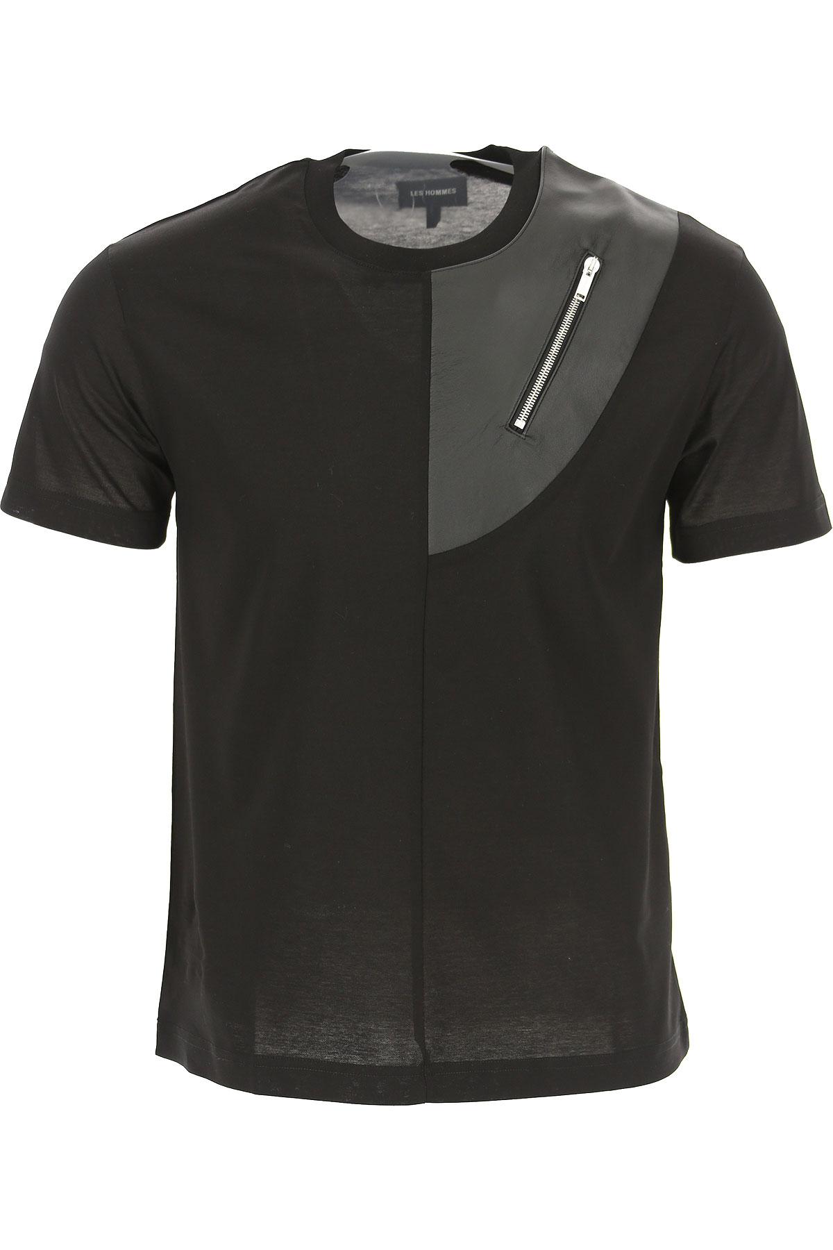 Les Hommes T-Shirt for Men On Sale, Black, Cotton, 2019, L M S XL