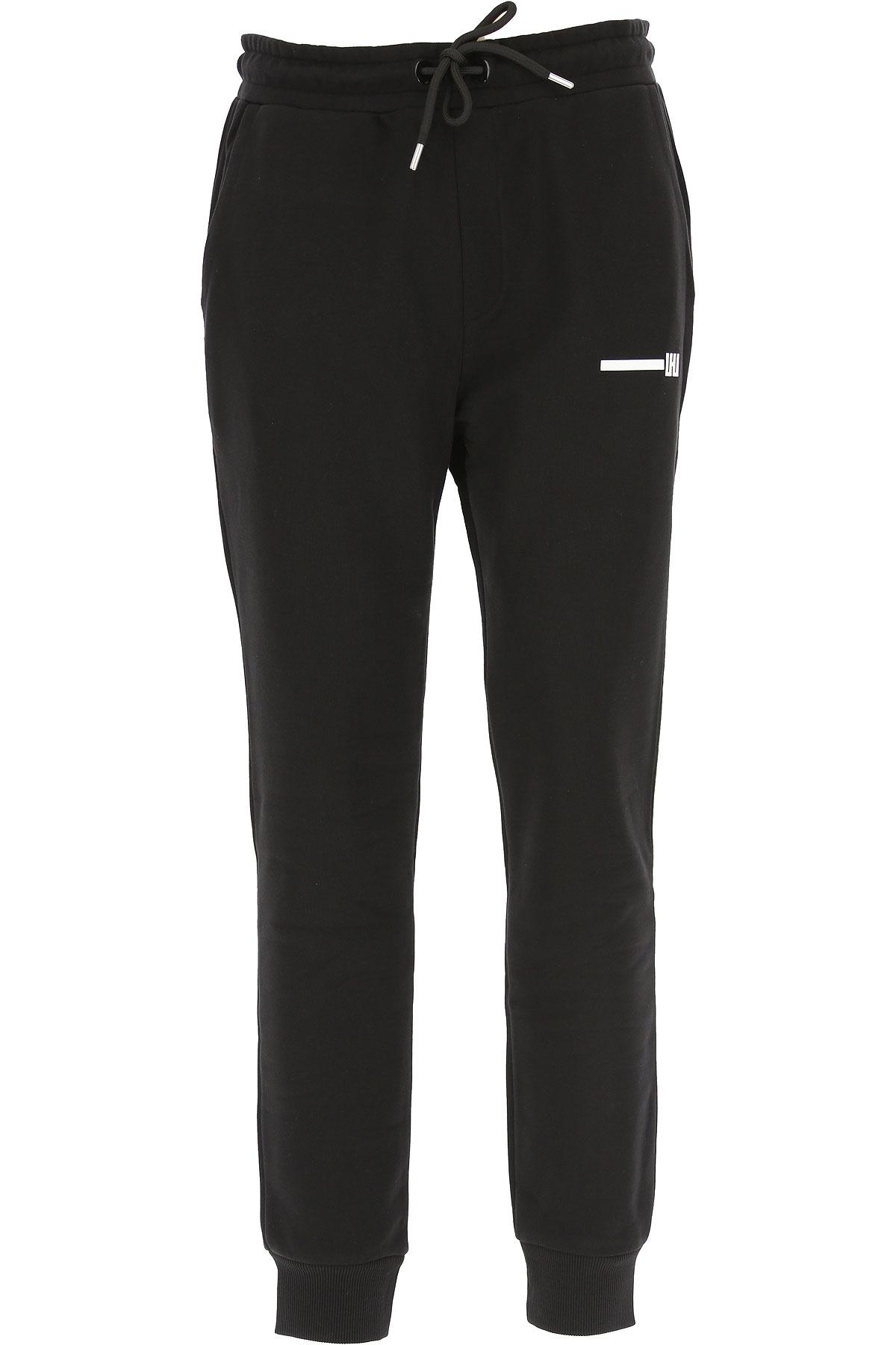 Les Hommes Mens Clothing On Sale, Black, Cotton, 2019, L XL